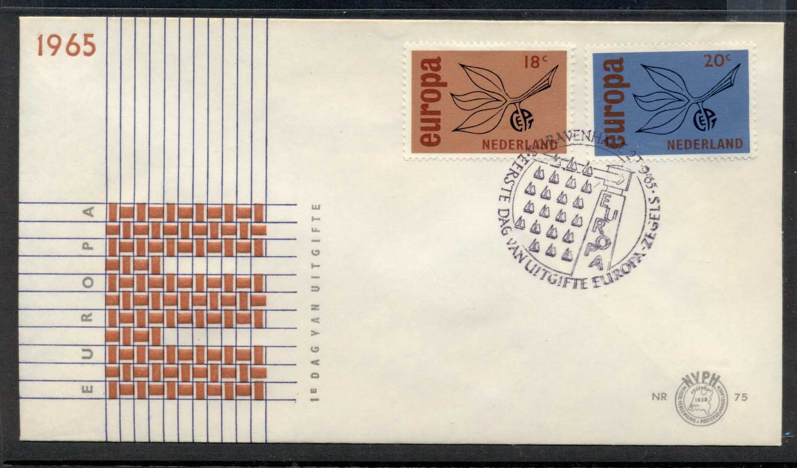 Nederland 1965 Europa Leaves & Fruit FDC