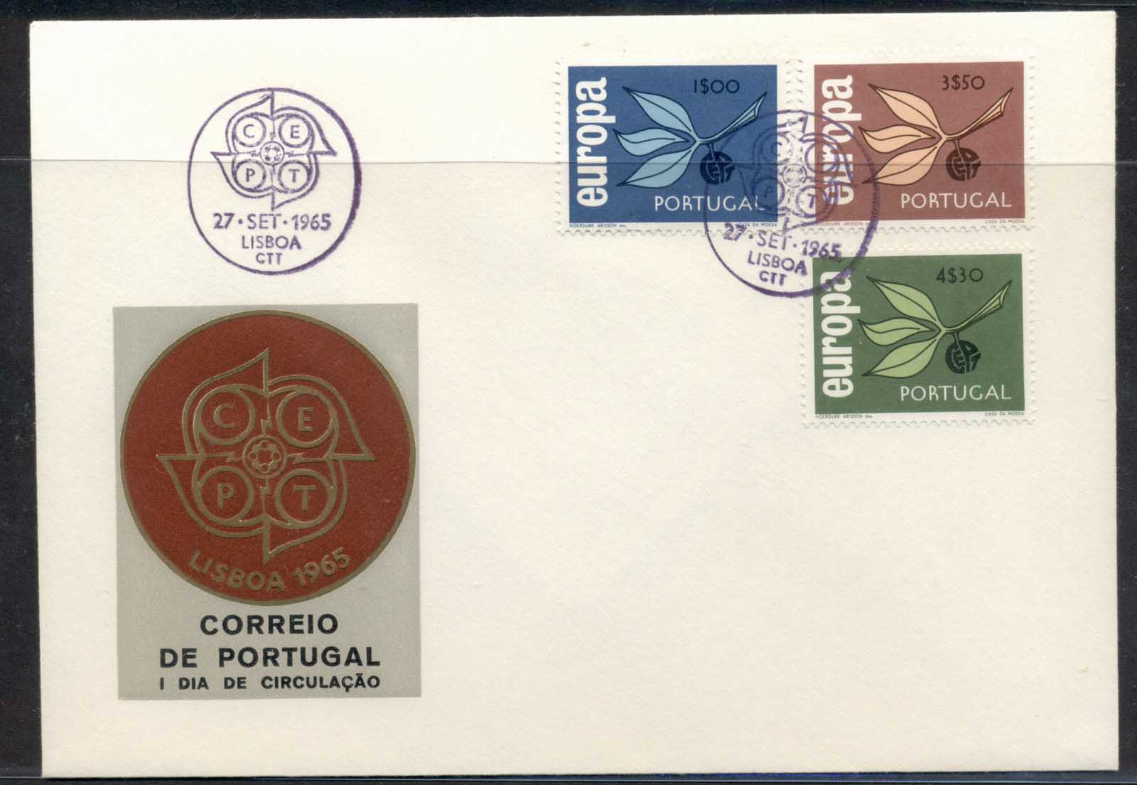 Portugal 1965 Europa Leaves & Fruit FDC