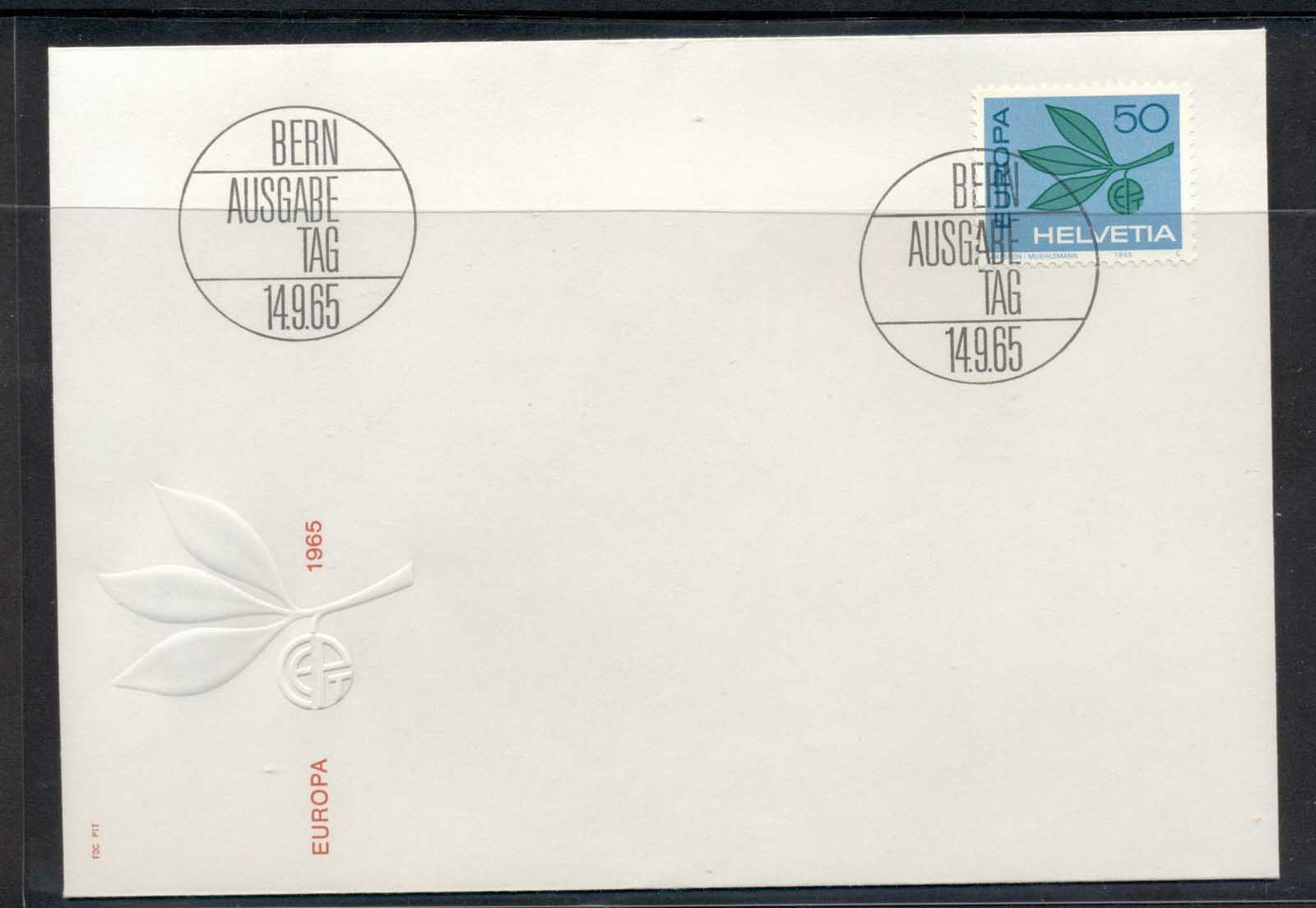 Switzerland 1965 Europa Leaves & Fruit FDC