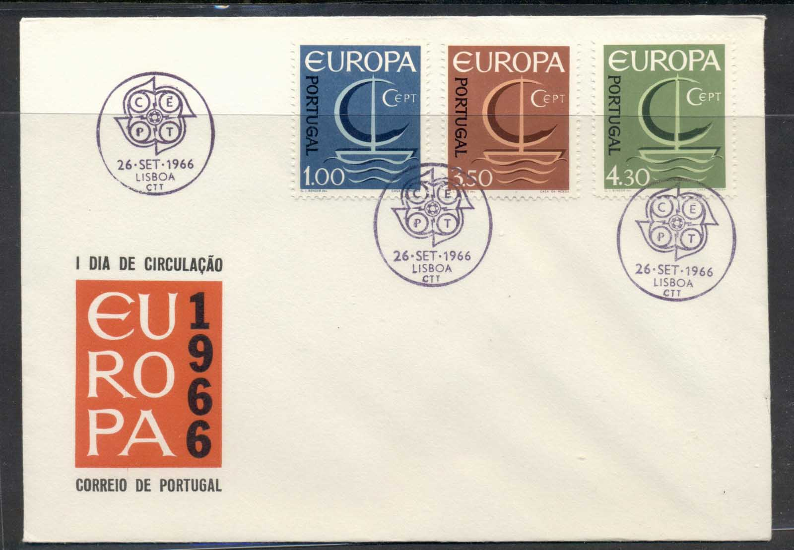 Portugal 1966 Europa Sailboat FDC