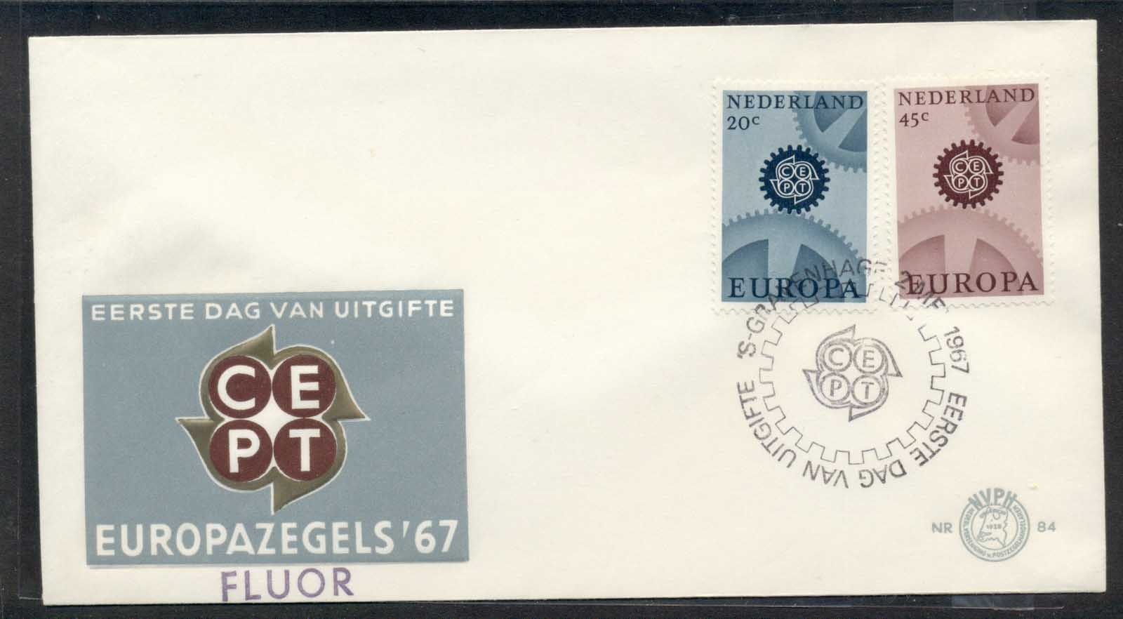 Nederland 1967 Europa Cogwheels Fluor FDC - Click Image to Close