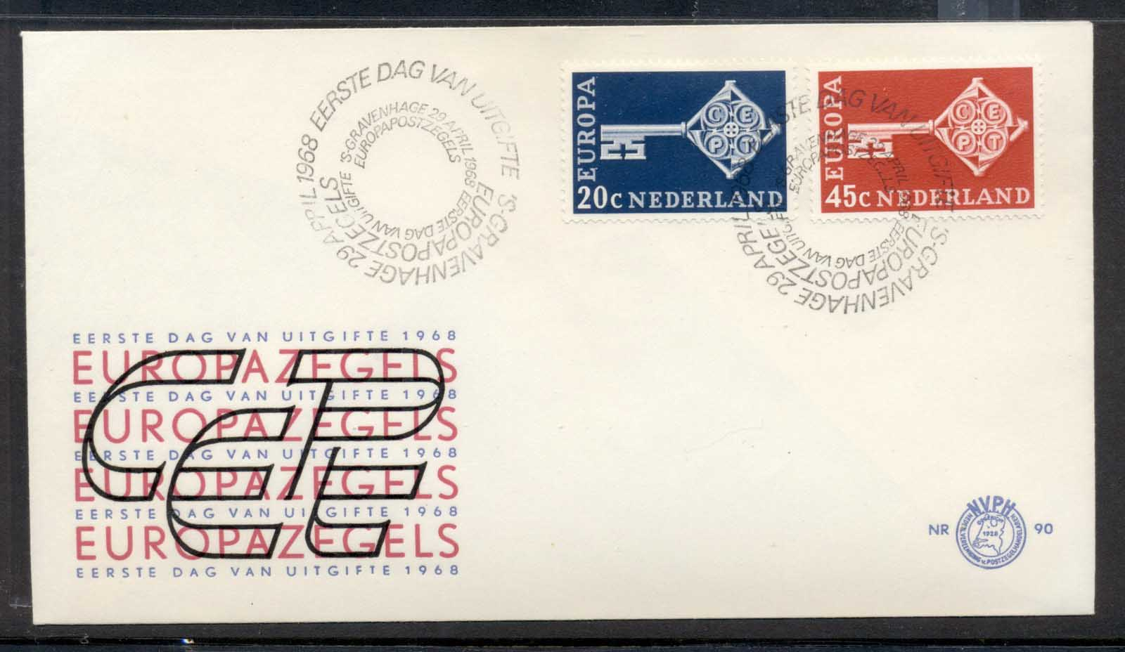 Nederland 1968 Europa Key with Emblem FDC