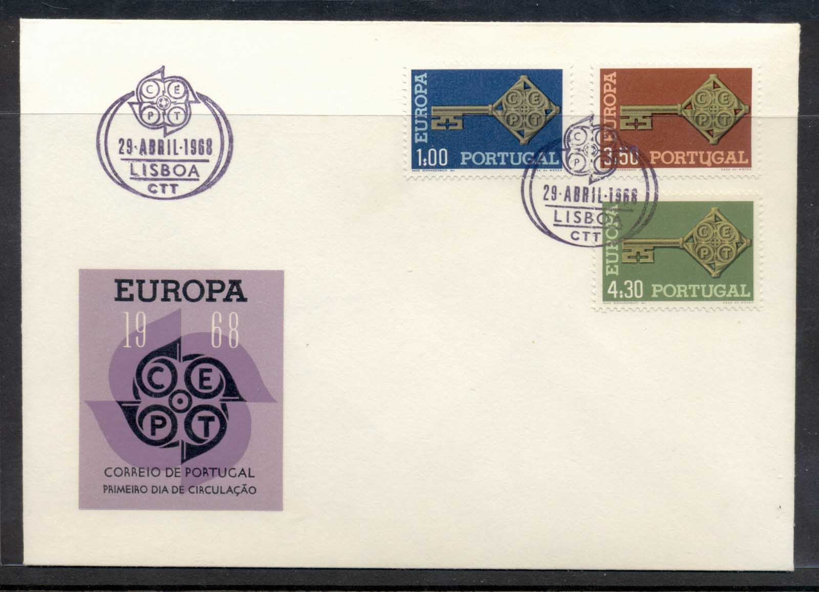 Portugal 1968 Europa Key with Emblem FDC