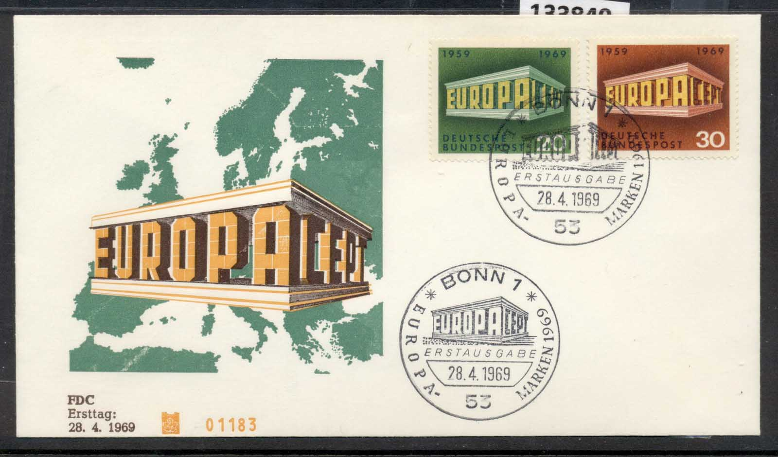 Germany 1969 Europa Building FDC