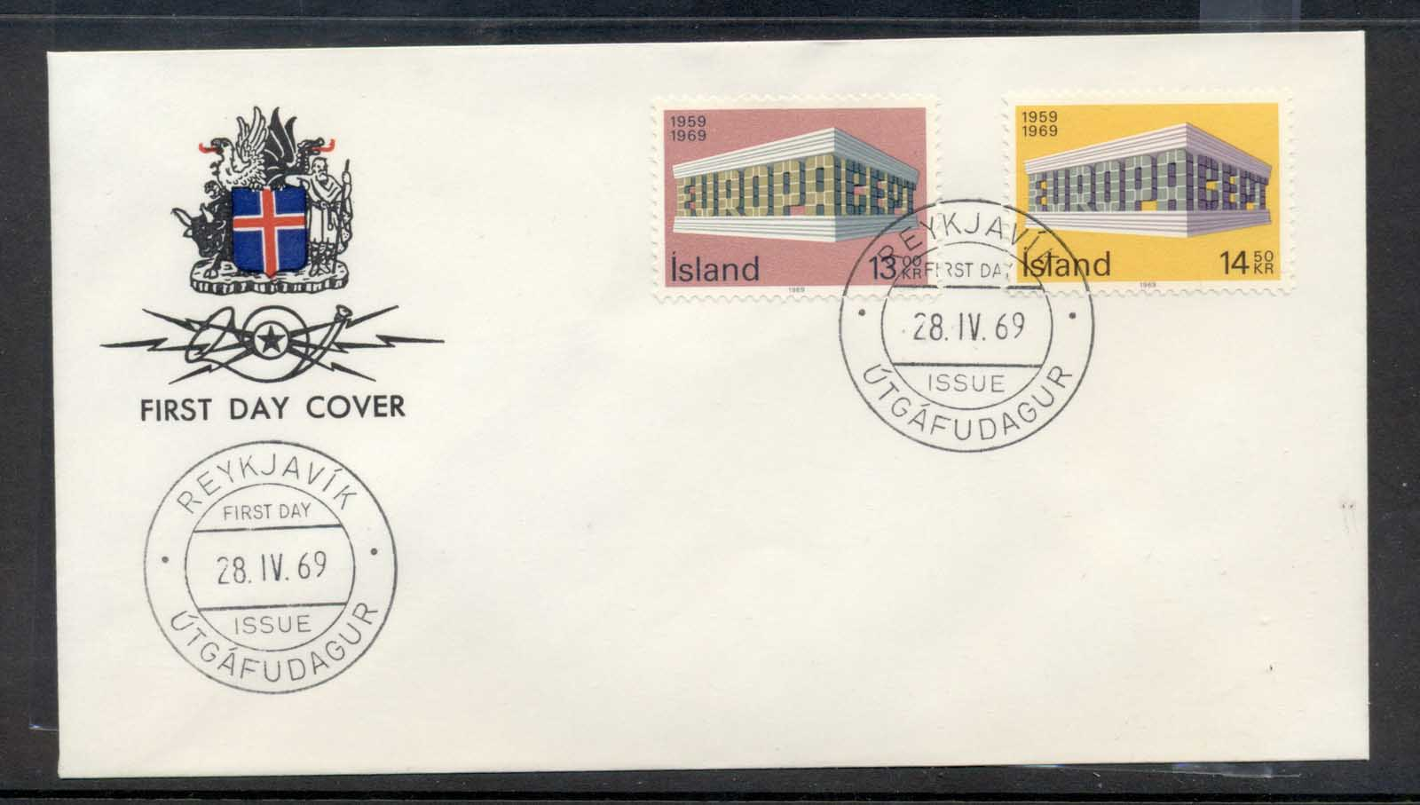 Iceland 1969 Europa Building FDC