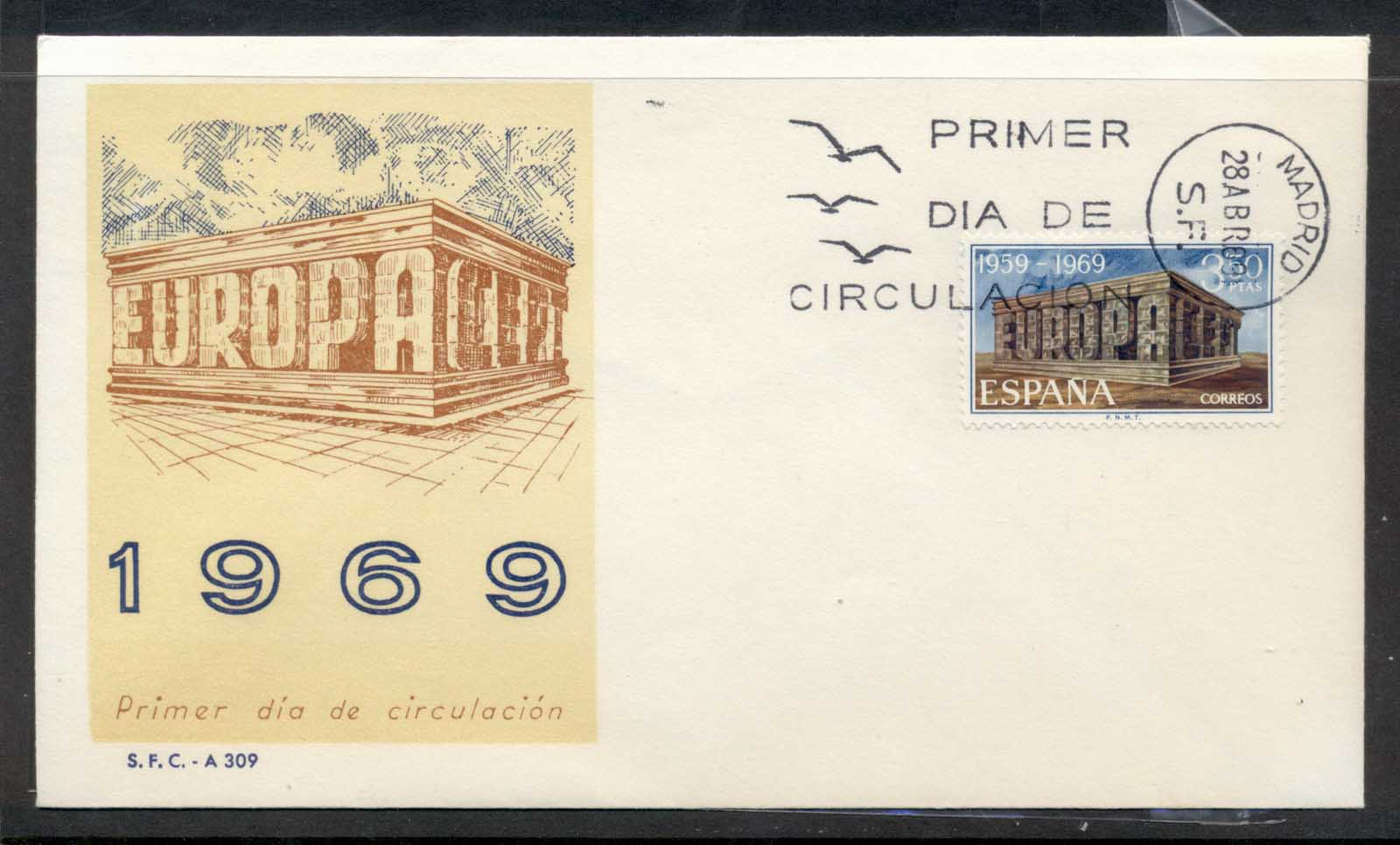 Spain 1969 Europa Building FDC