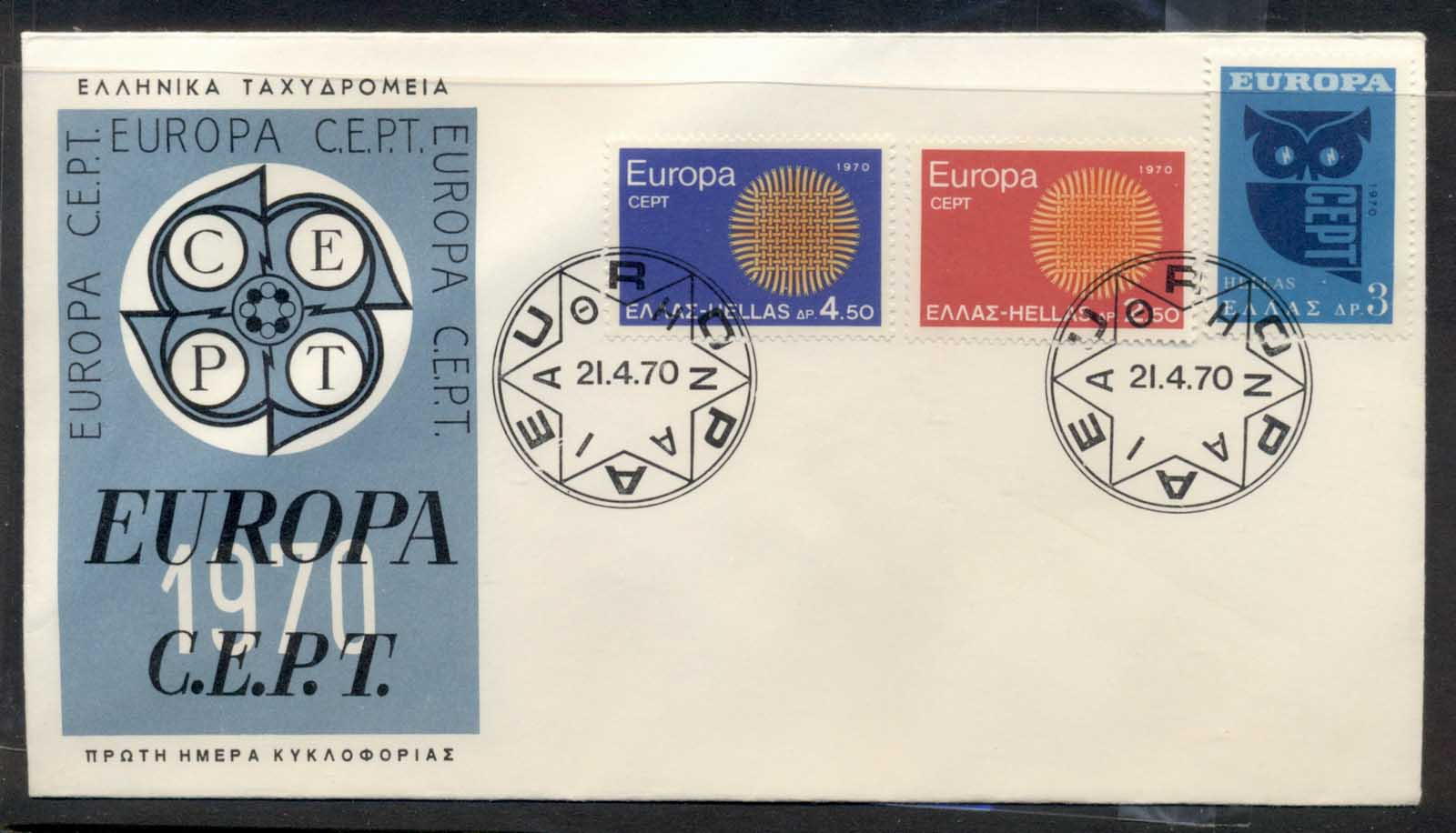 Greece 1970 Europa Woven Threads FDC - Click Image to Close
