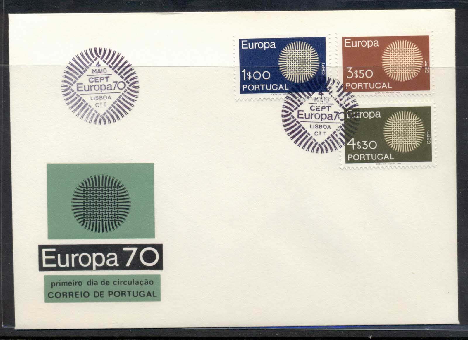 Portugal 1970 Europa Woven Threads FDC