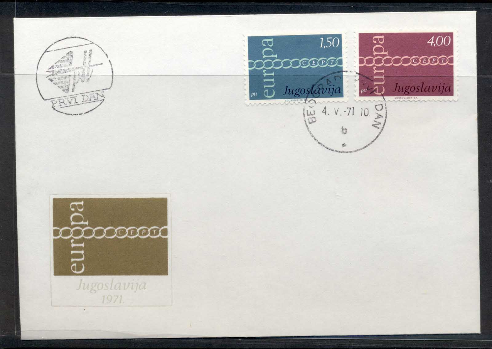 Yugoslavia 1971 Europa Chain through O FDC