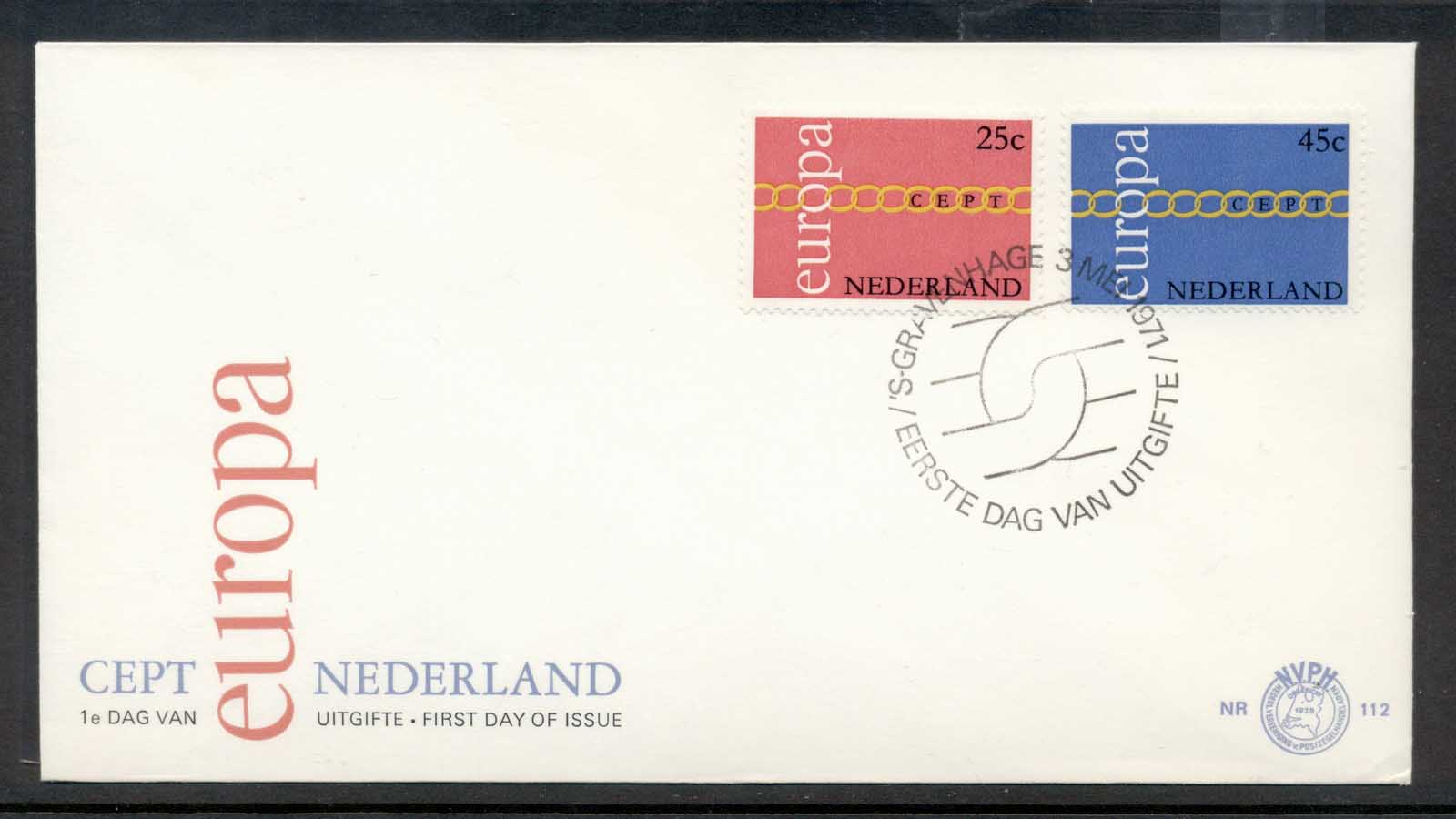 Nederland 1971 Europa Chain through O FDC