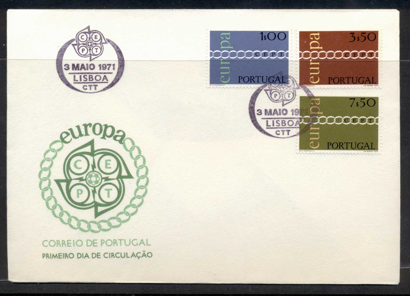 Portugal 1971 Europa Chain through O FDC