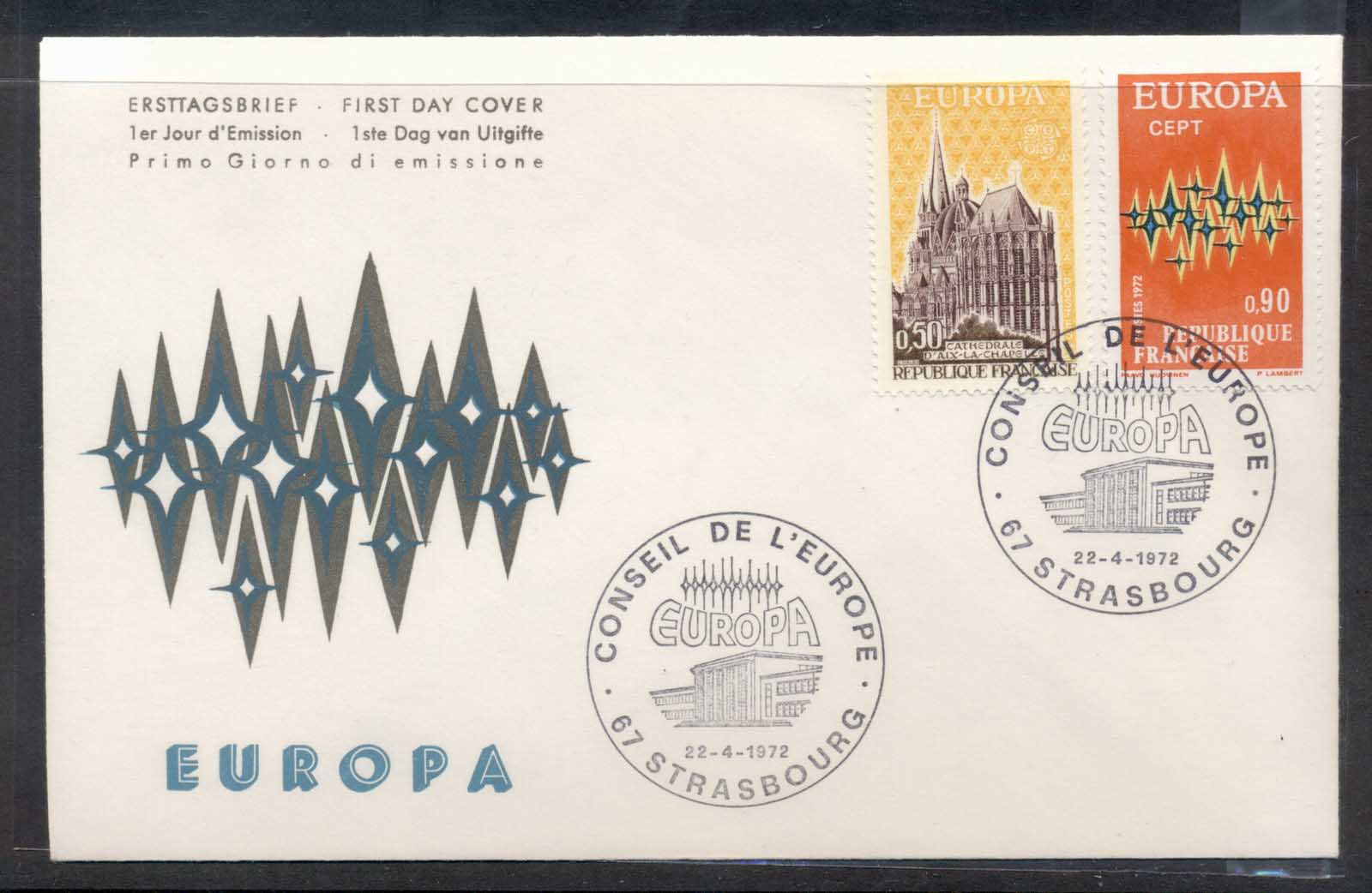 France 1972 Europa Sparkles FDC