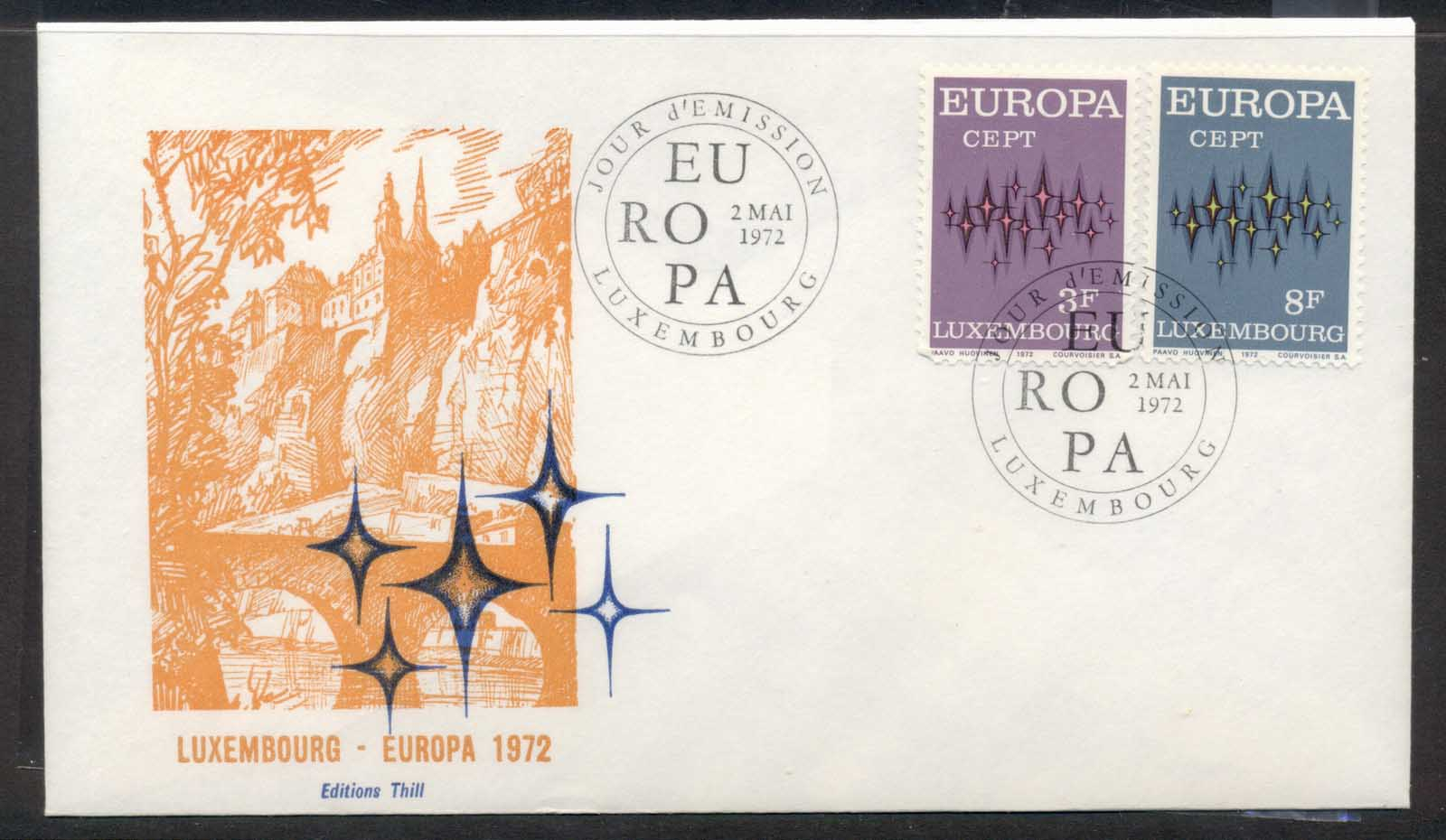 Luxembourg 1972 Europa Sparkles FDC