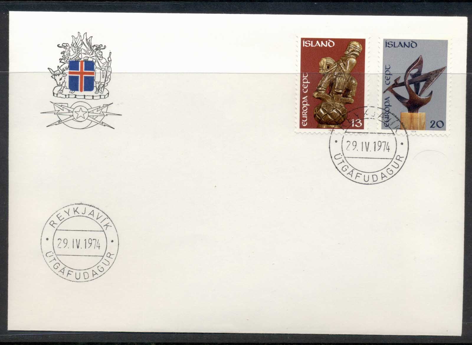 Iceland 1974 Europa Sculpture FDC