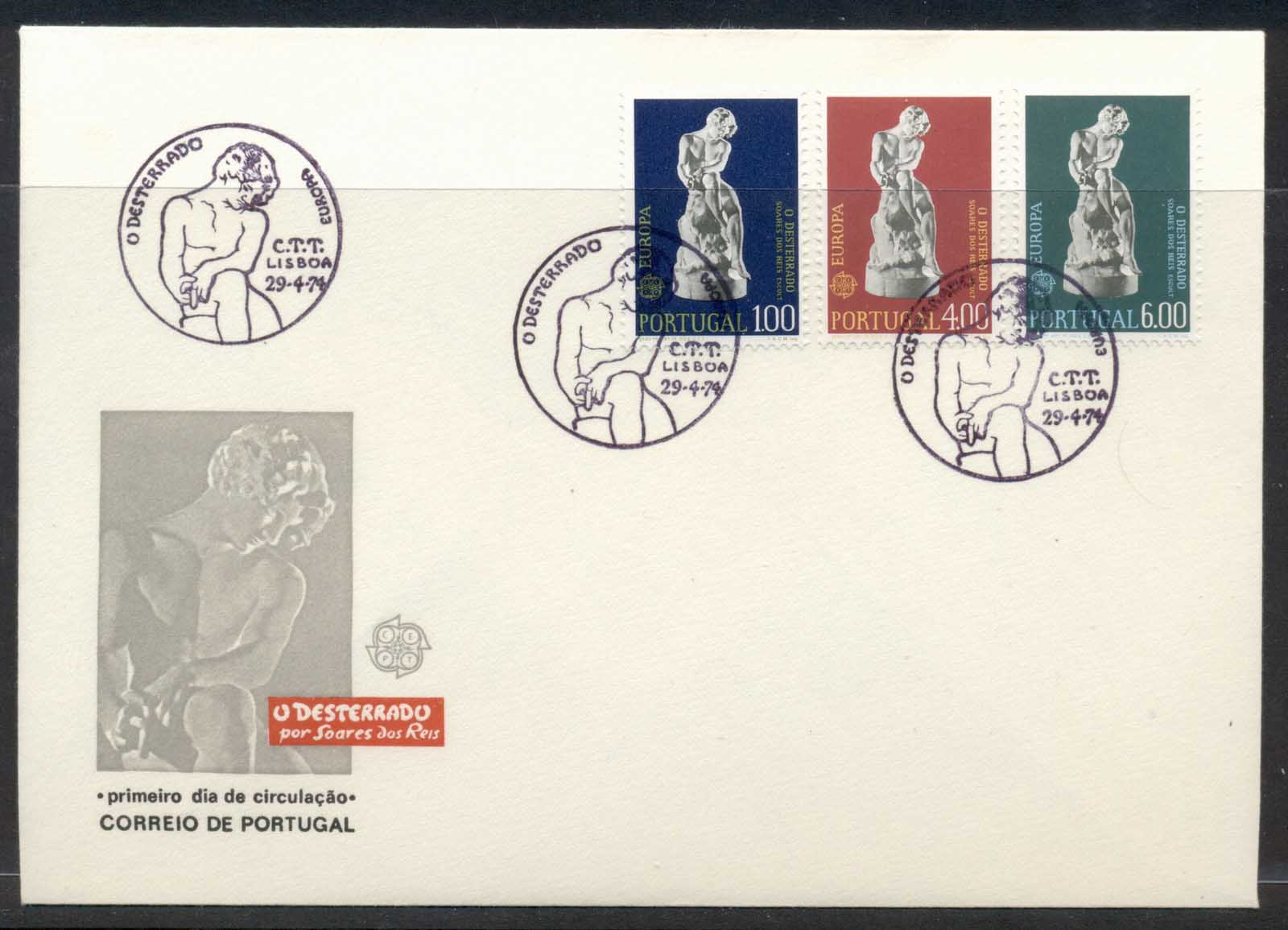 Portugal 1974 Europa Sculpture FDC
