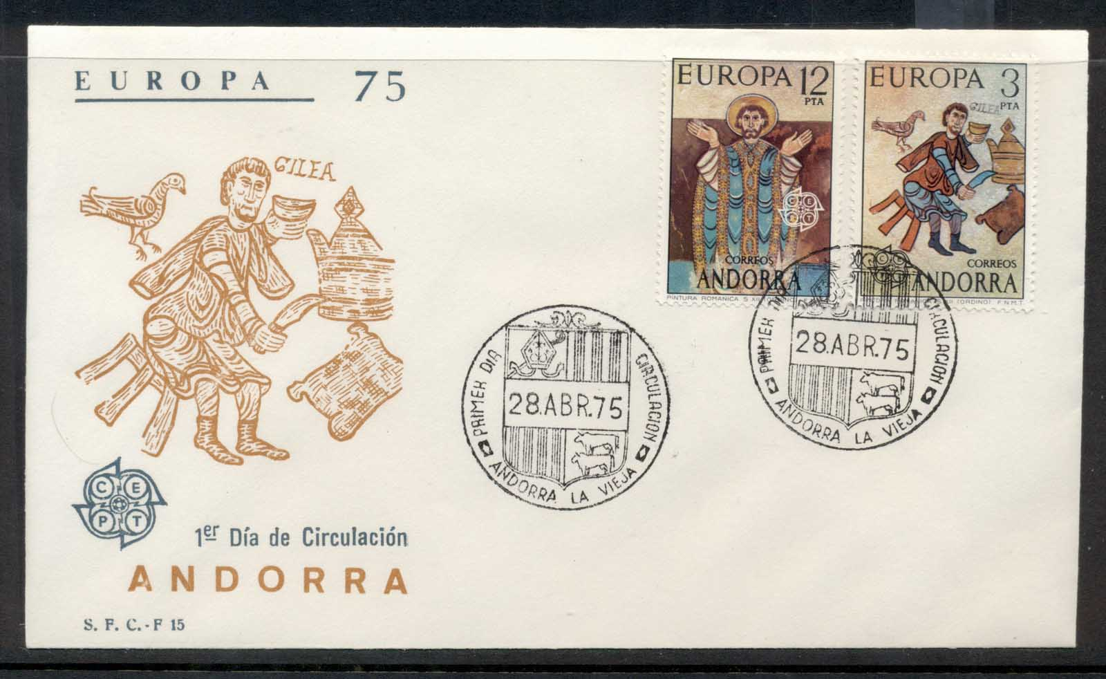 Andorra (Sp.) 1975 Europa Paintings FDC