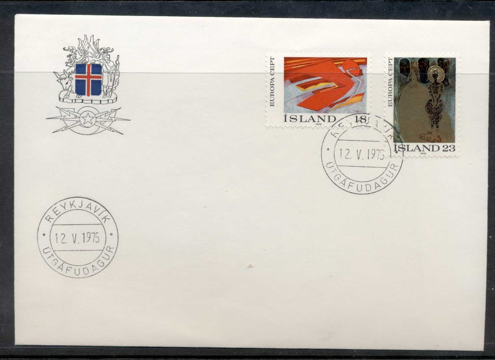 Iceland 1975 Europa Paintings FDC