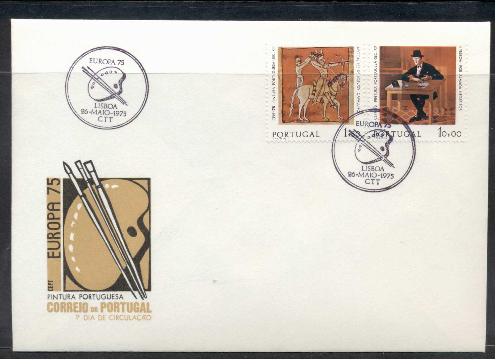Portugal 1975 Europa Paintings FDC