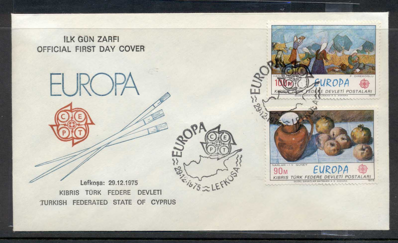 Cyprus Turkish 1975 Europa Paintings FDC