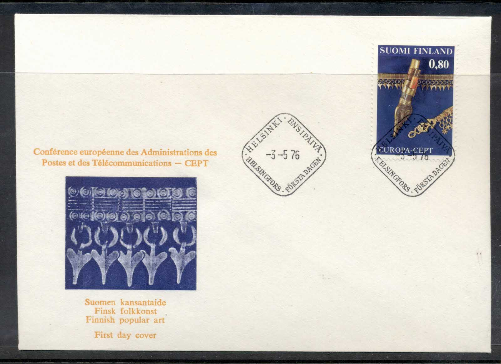 Finland 1976 Europa Pottery FDC