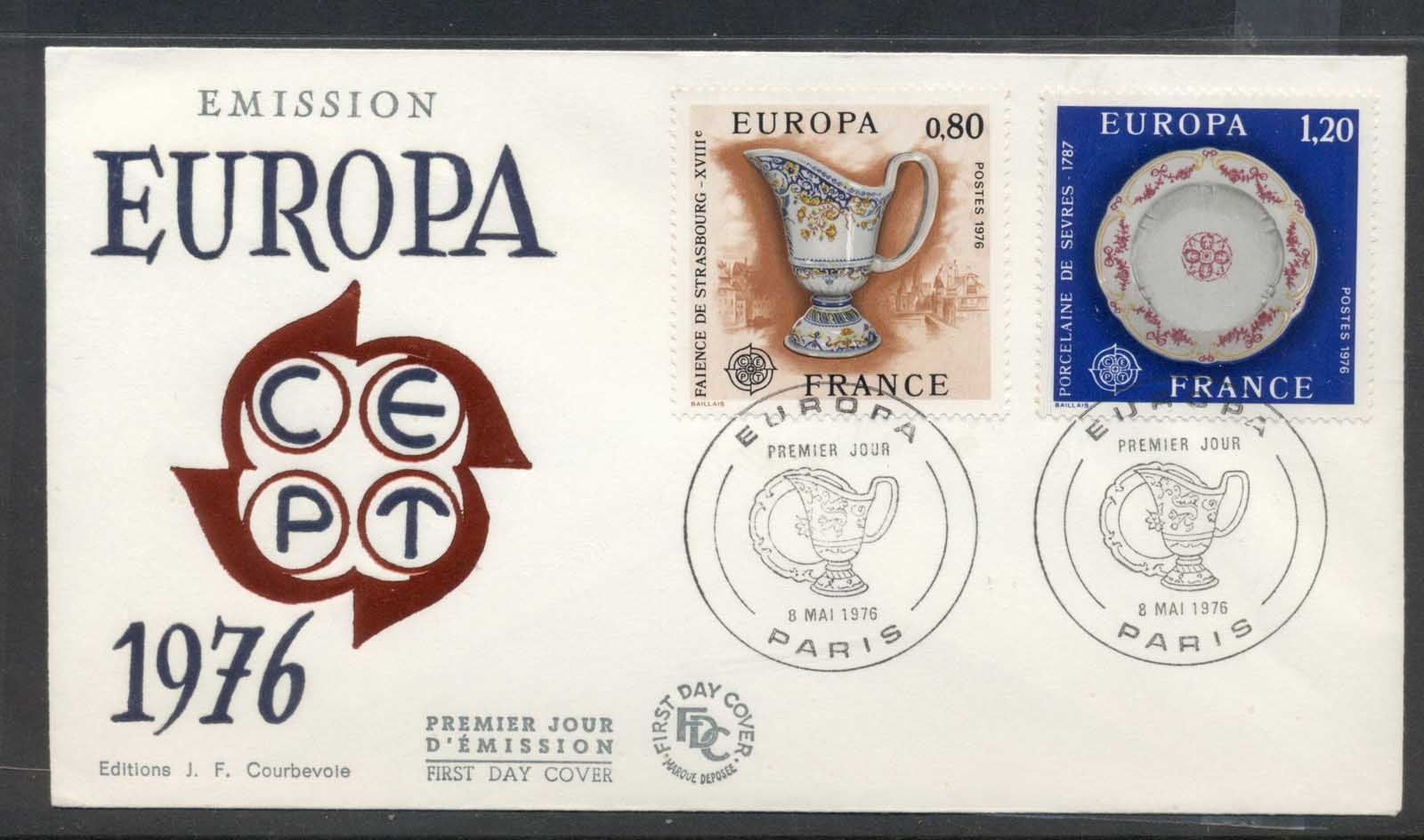 France 1976 Europa Pottery FDC