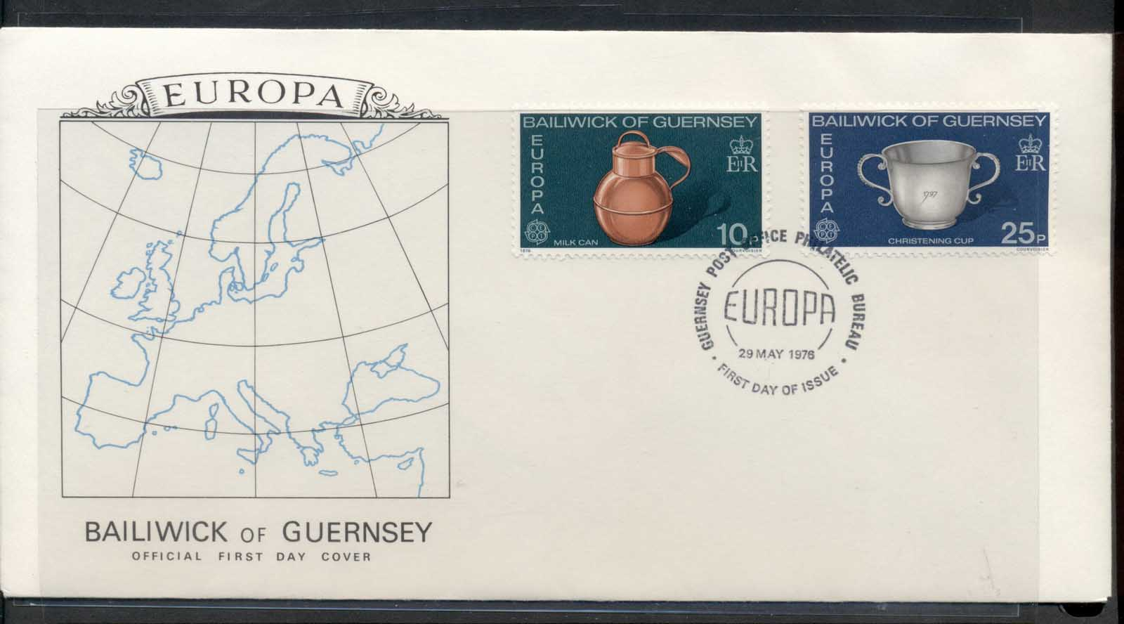 Guernsey 1976 Europa Pottery FDC