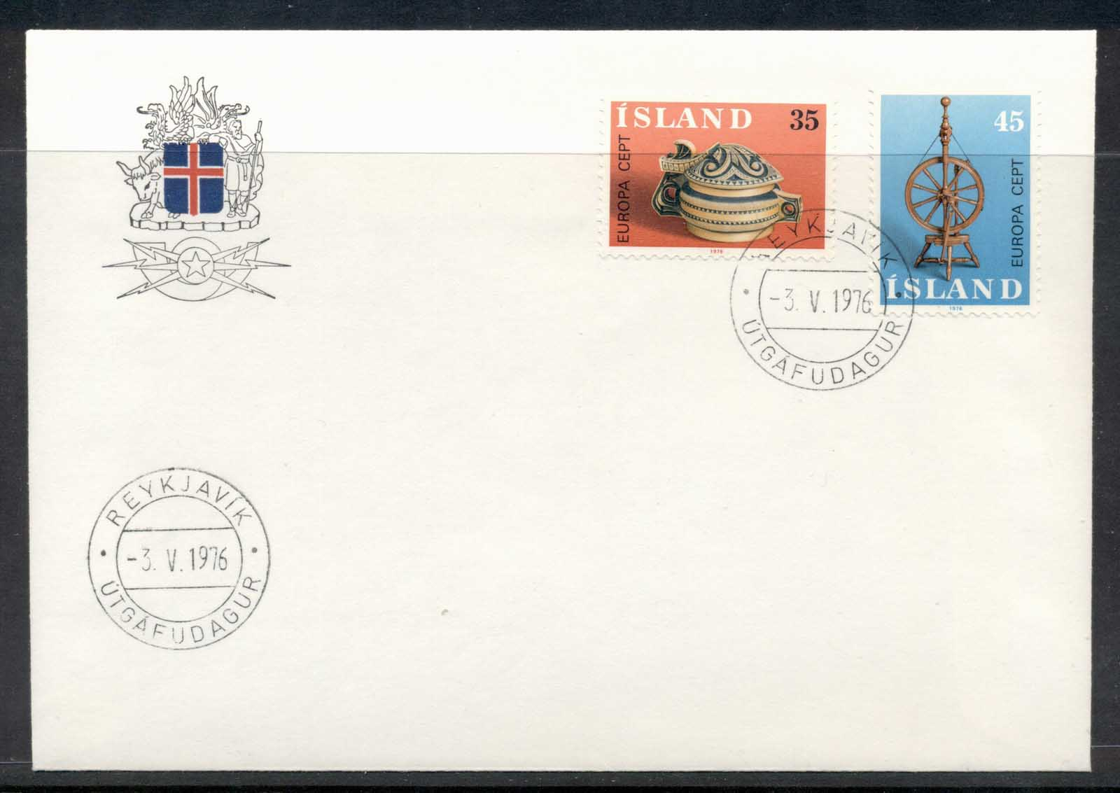Iceland 1976 Europa Pottery FDC