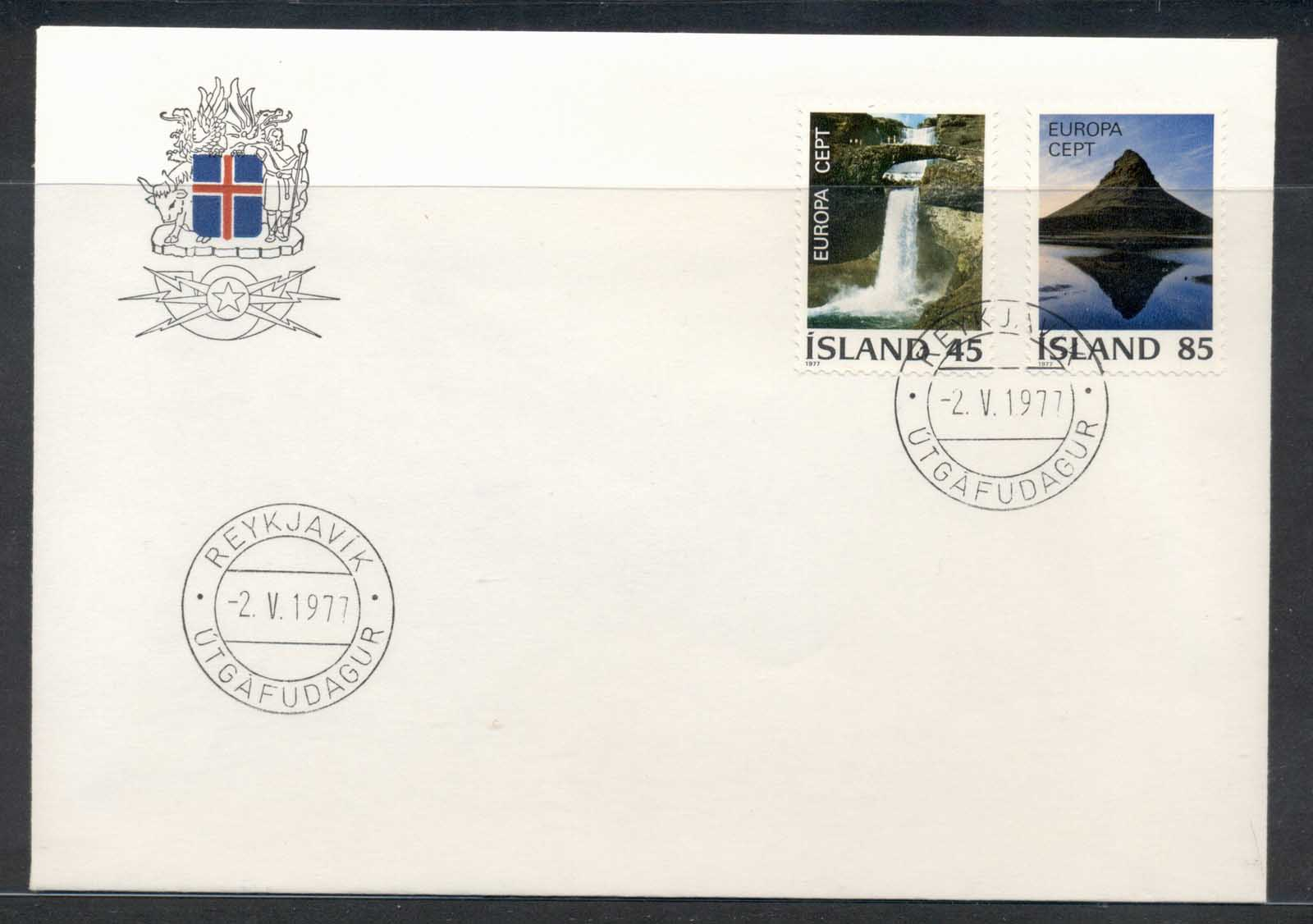 Iceland 1977 Europa Landscapes FDC