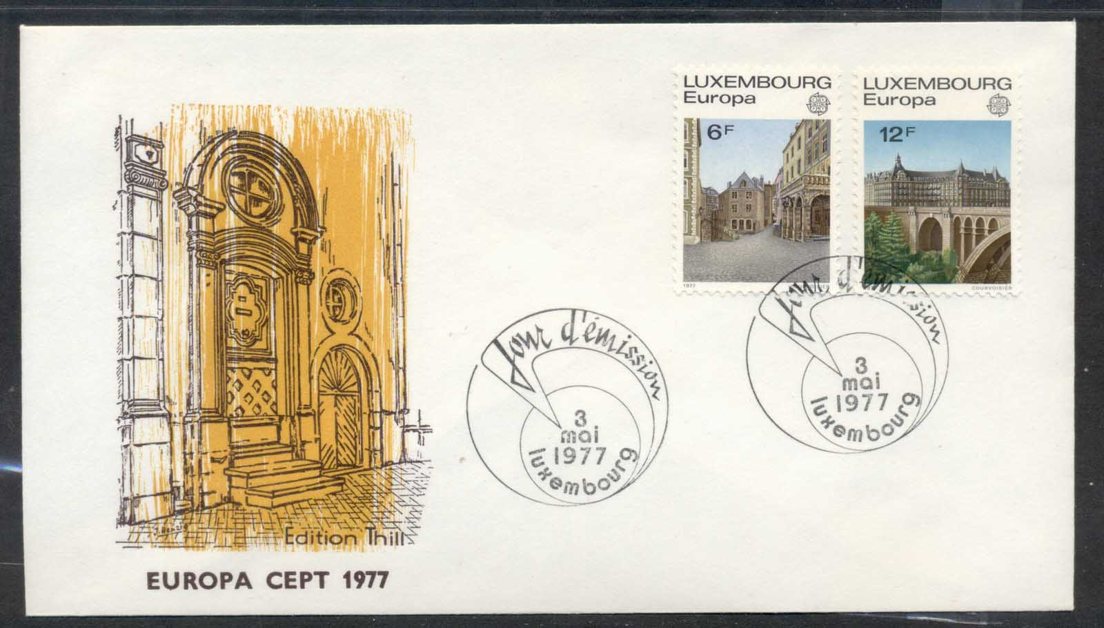 Luxembourg 1977 Europa Landscapes FDC