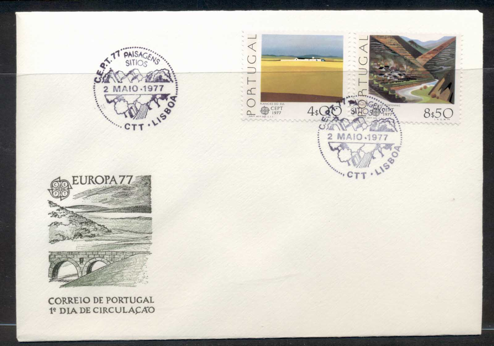 Portugal 1977 Europa Landscapes FDC