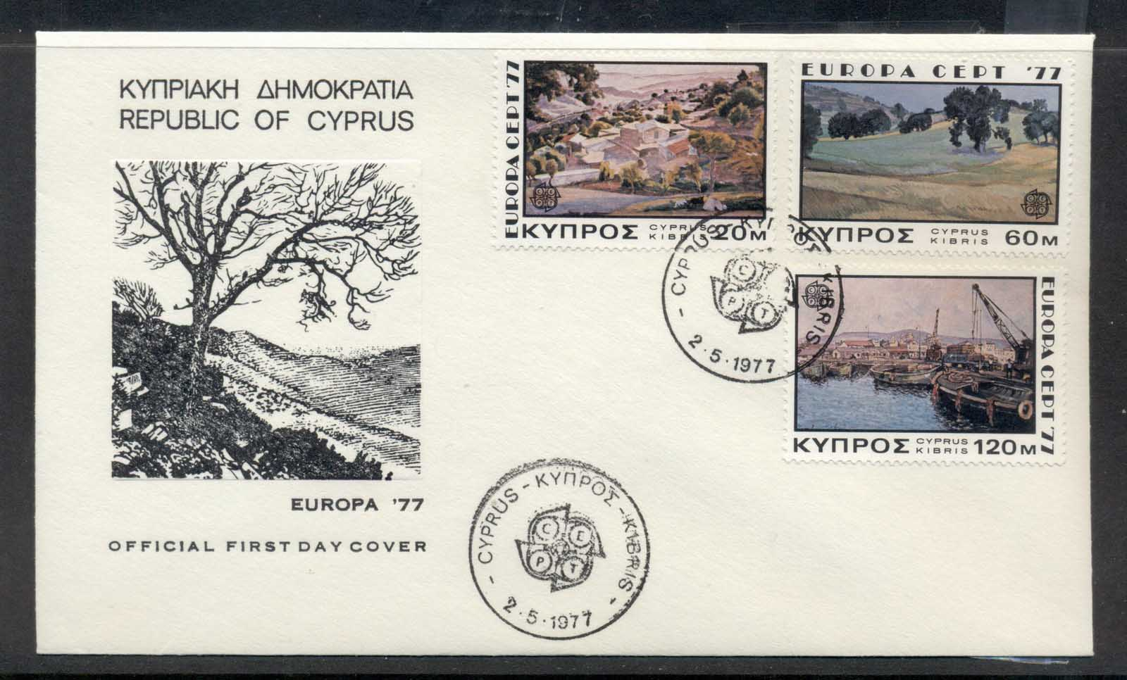 Cyprus 1977 Europa Landscapes FDC