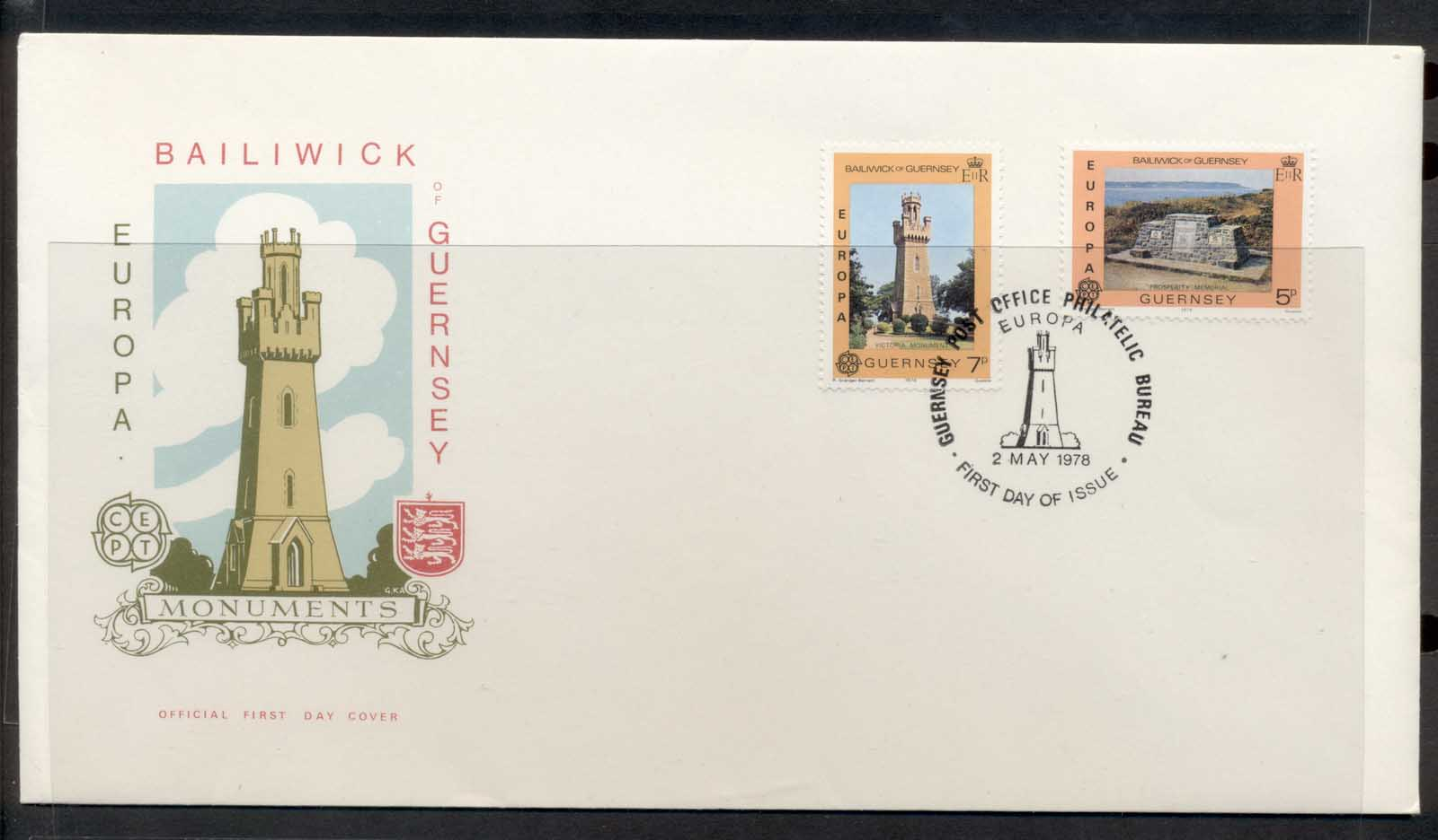Guernsey 1978 Europa Architecture FDC