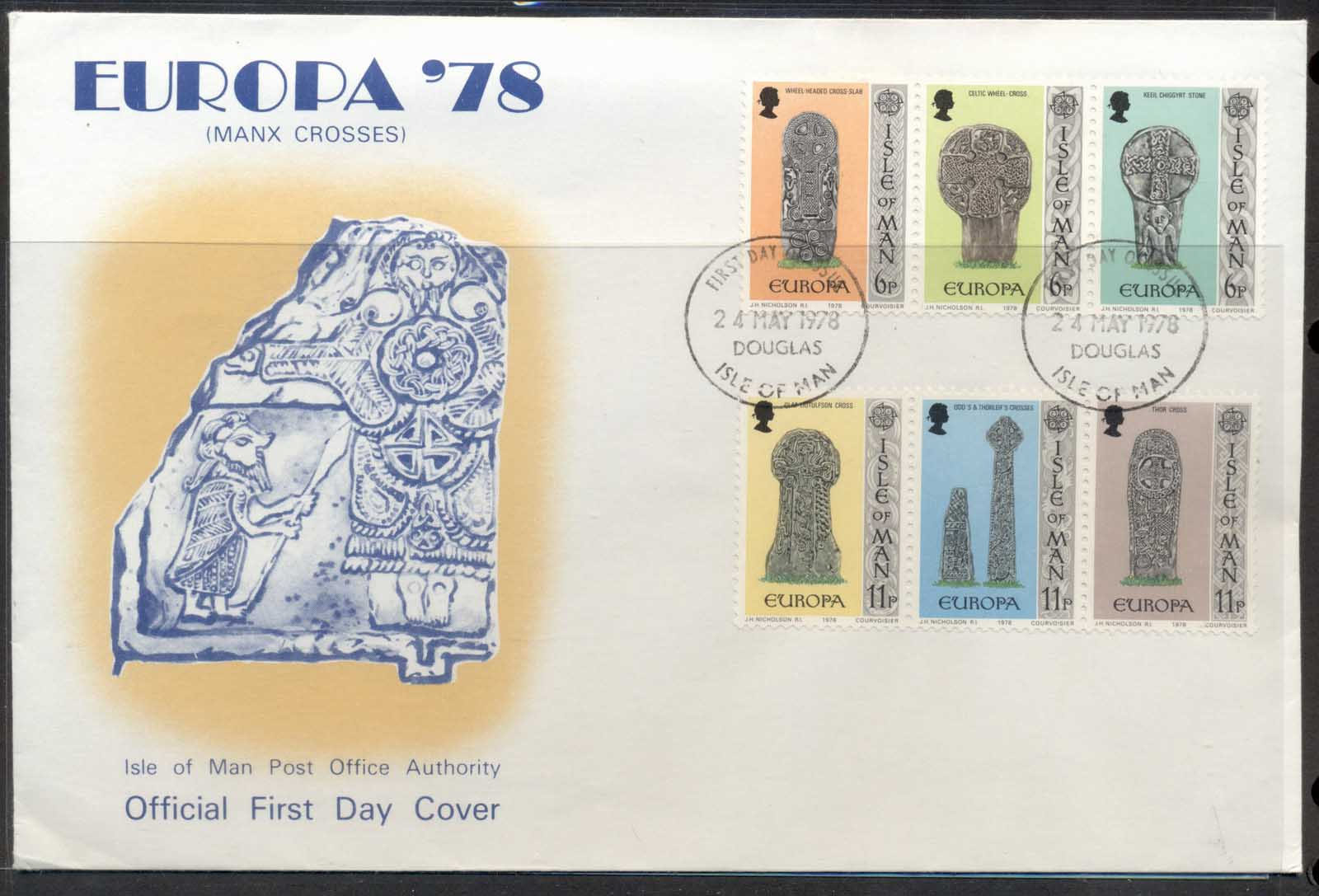 Isle of Man 1978 Europa Architecture FDC
