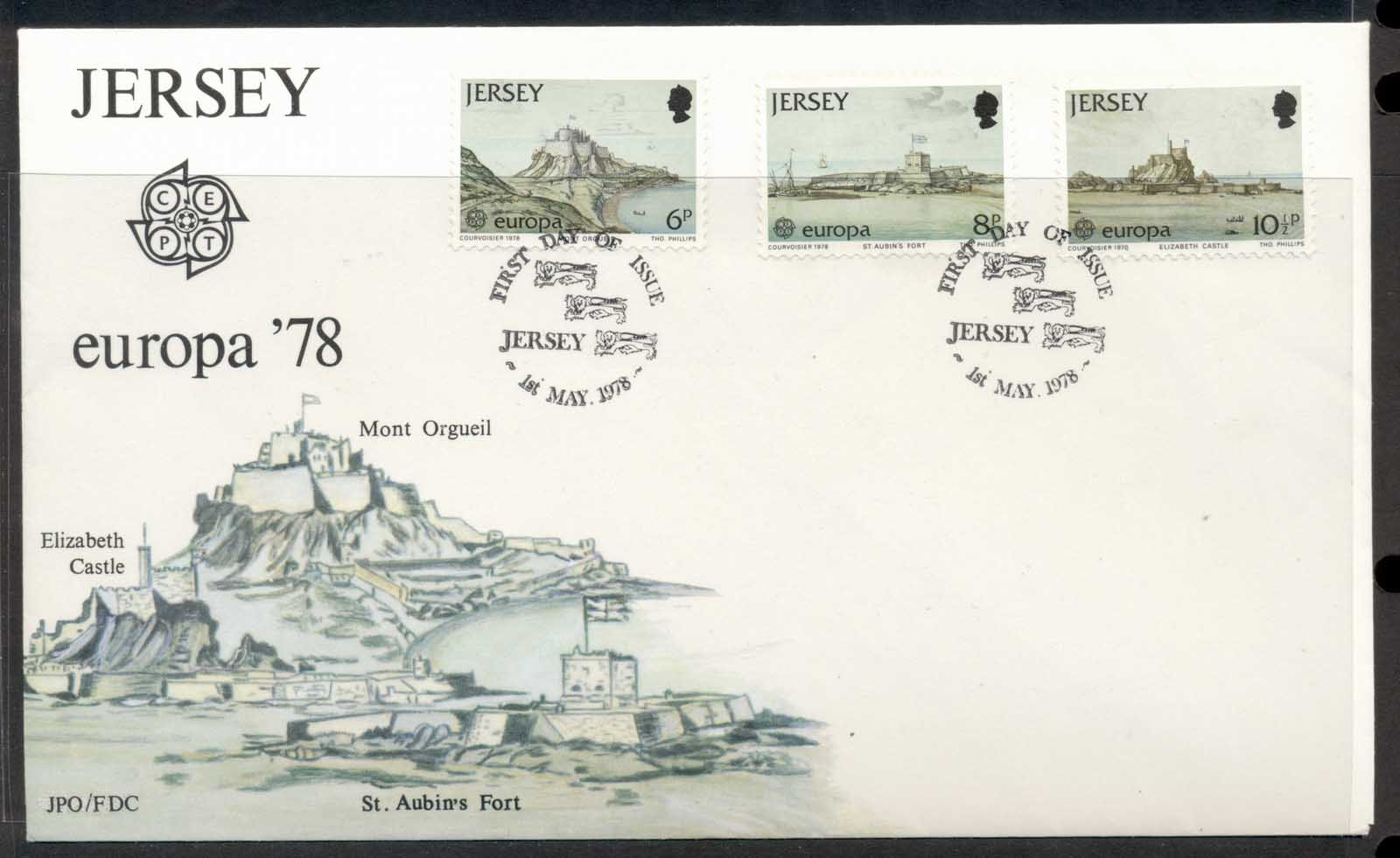 Jersey 1978 Europa Architecture FDC