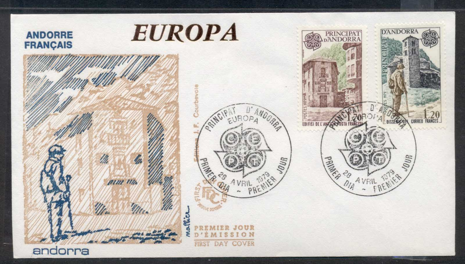 Andorra (Fr.) 1979 Europa Communications FDC