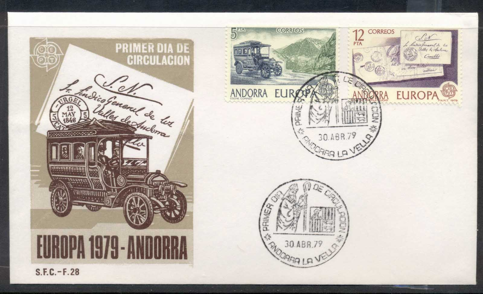 Andorra (Sp.) 1979 Europa Communications FDC