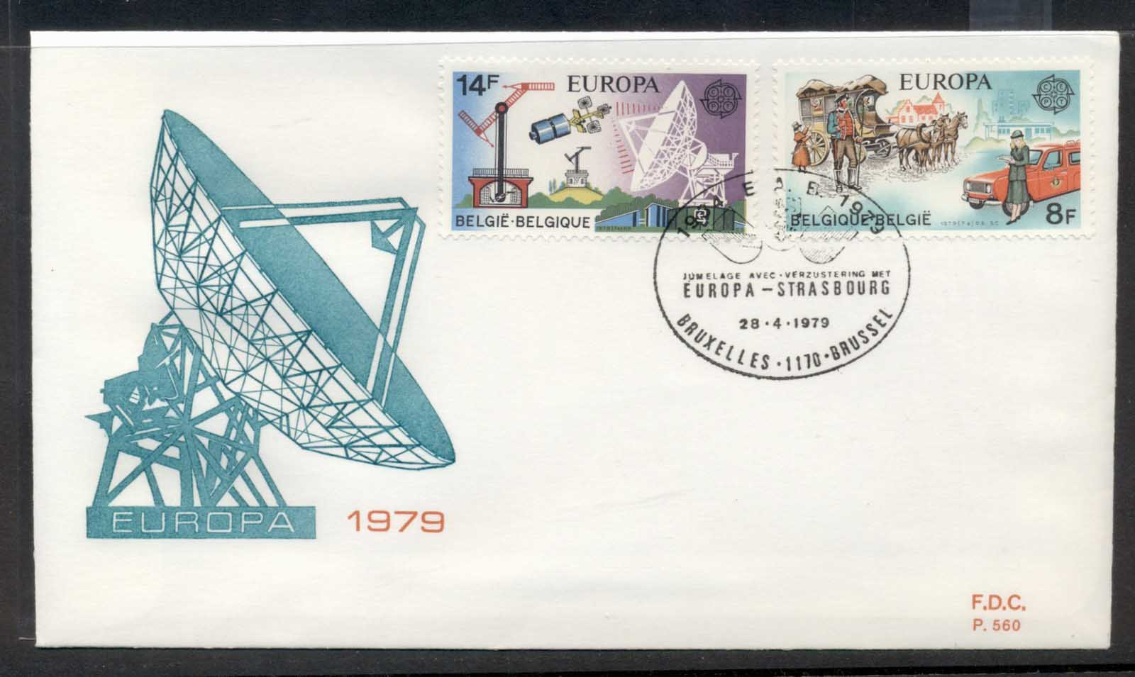 Belgium 1979 Europa Communications FDC
