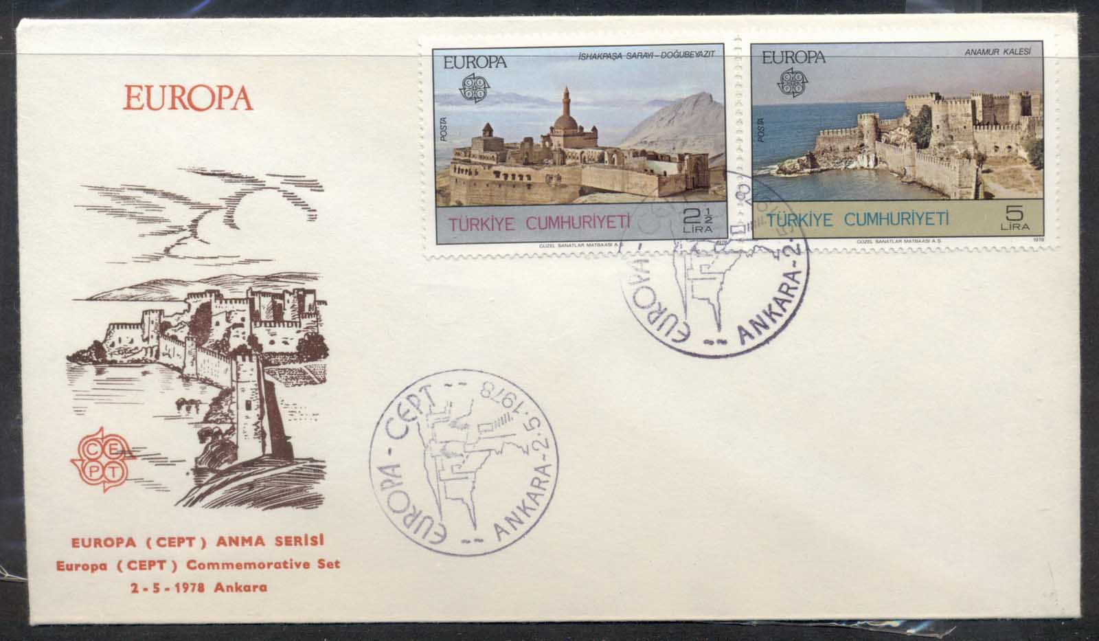 Turkey 1978 Europa Architecture FDC