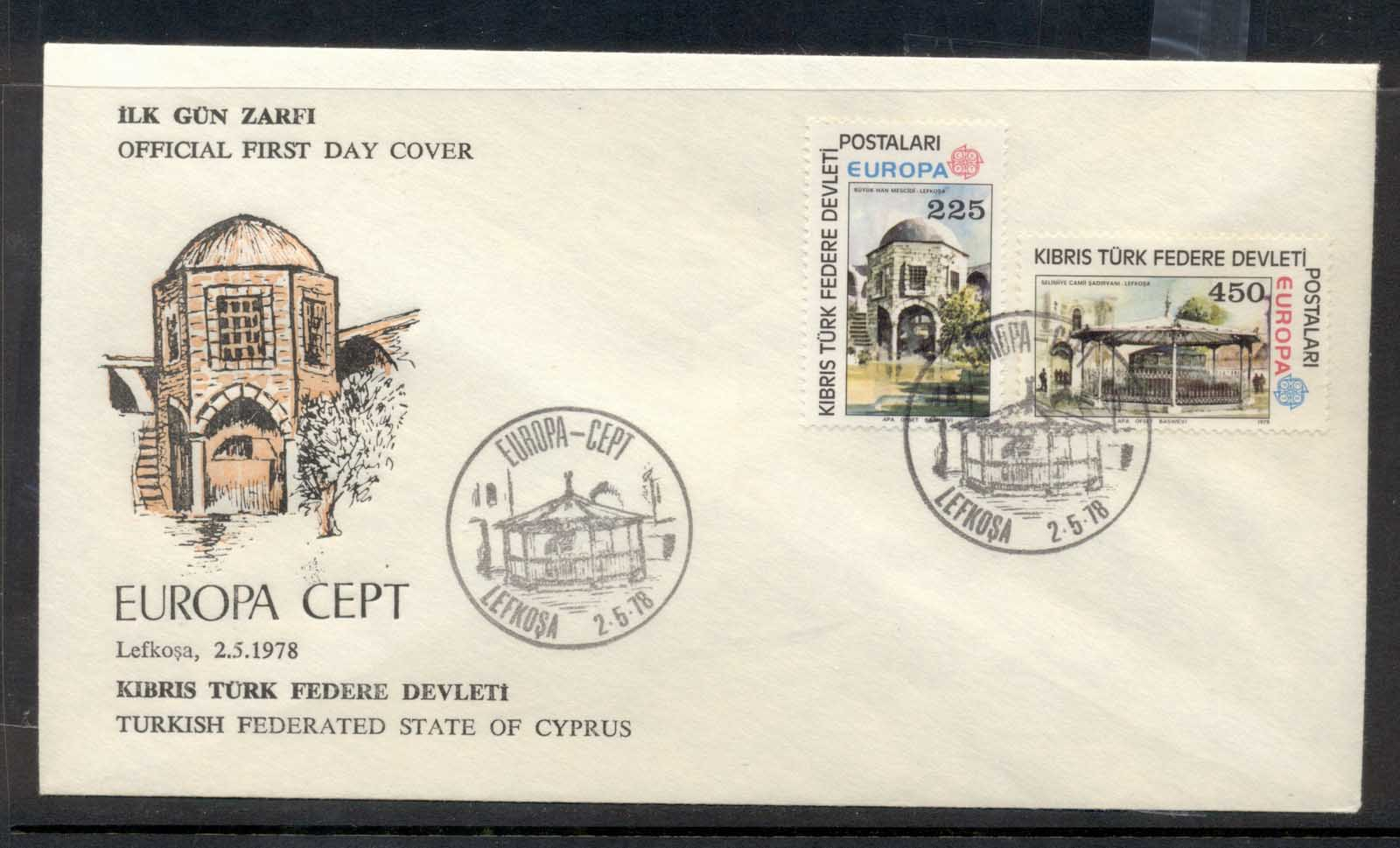 Cyprus Turkish 1978 Europa Architecture FDC