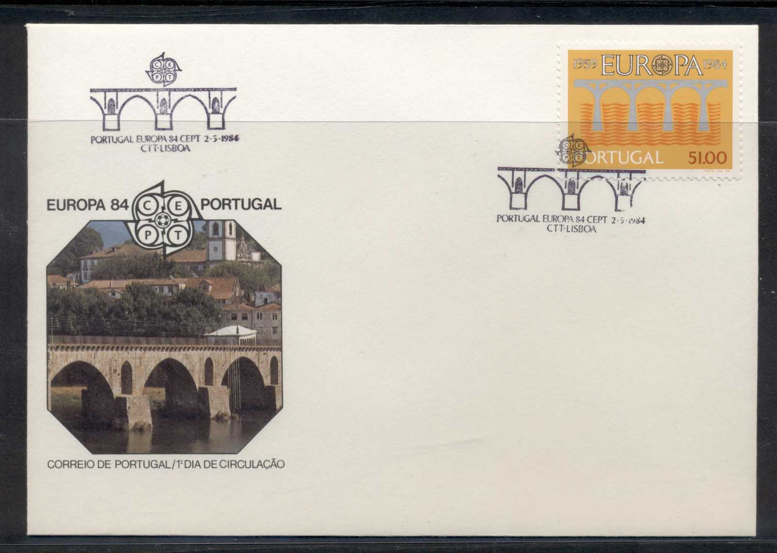 Portugal 1984 Europa Bridge FDC