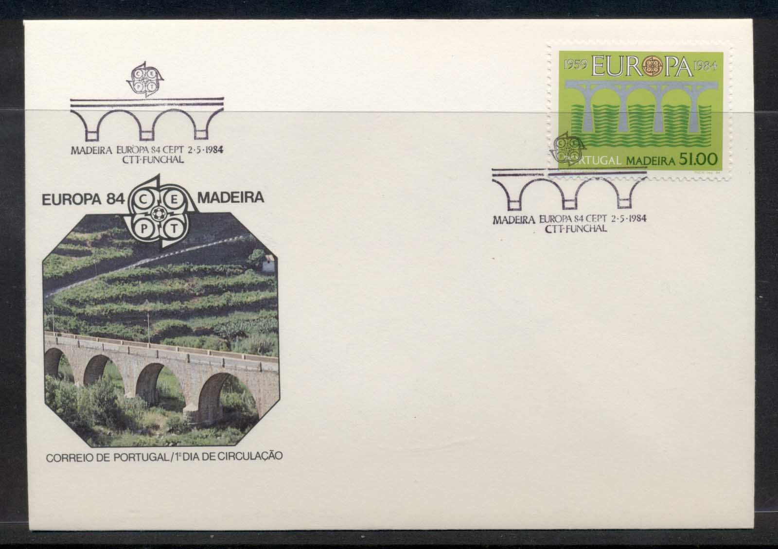 Madeira 1984 Europa Bridge FDC
