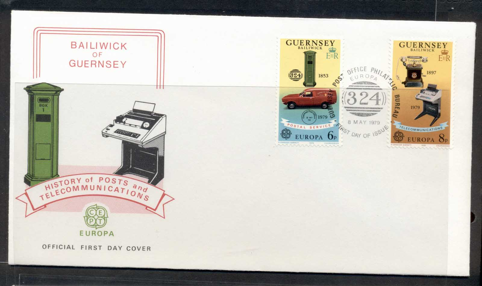 Guernsey 1979 Europa Communications FDC