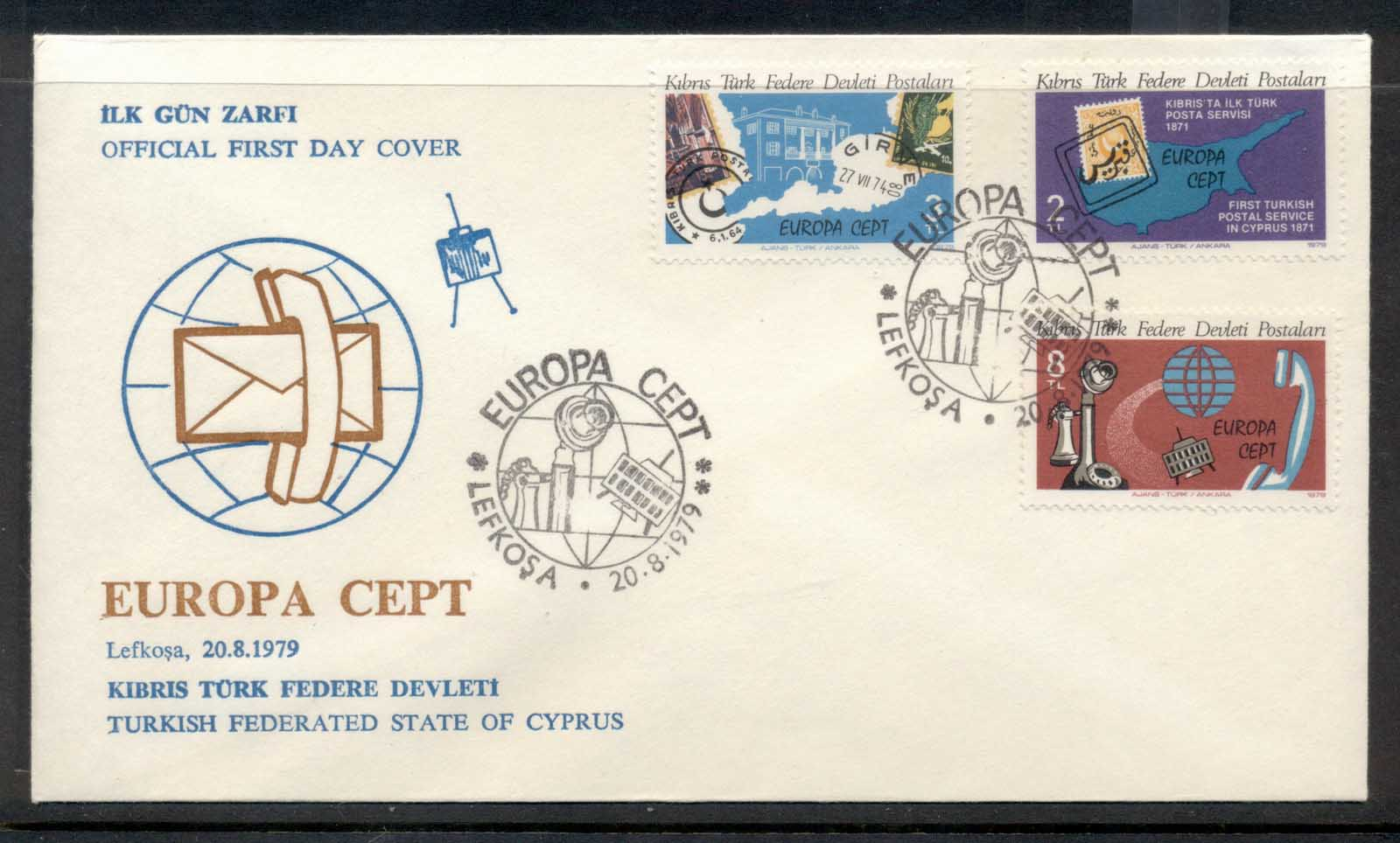 Cyprus Turkish 1979 Europa Communications FDC