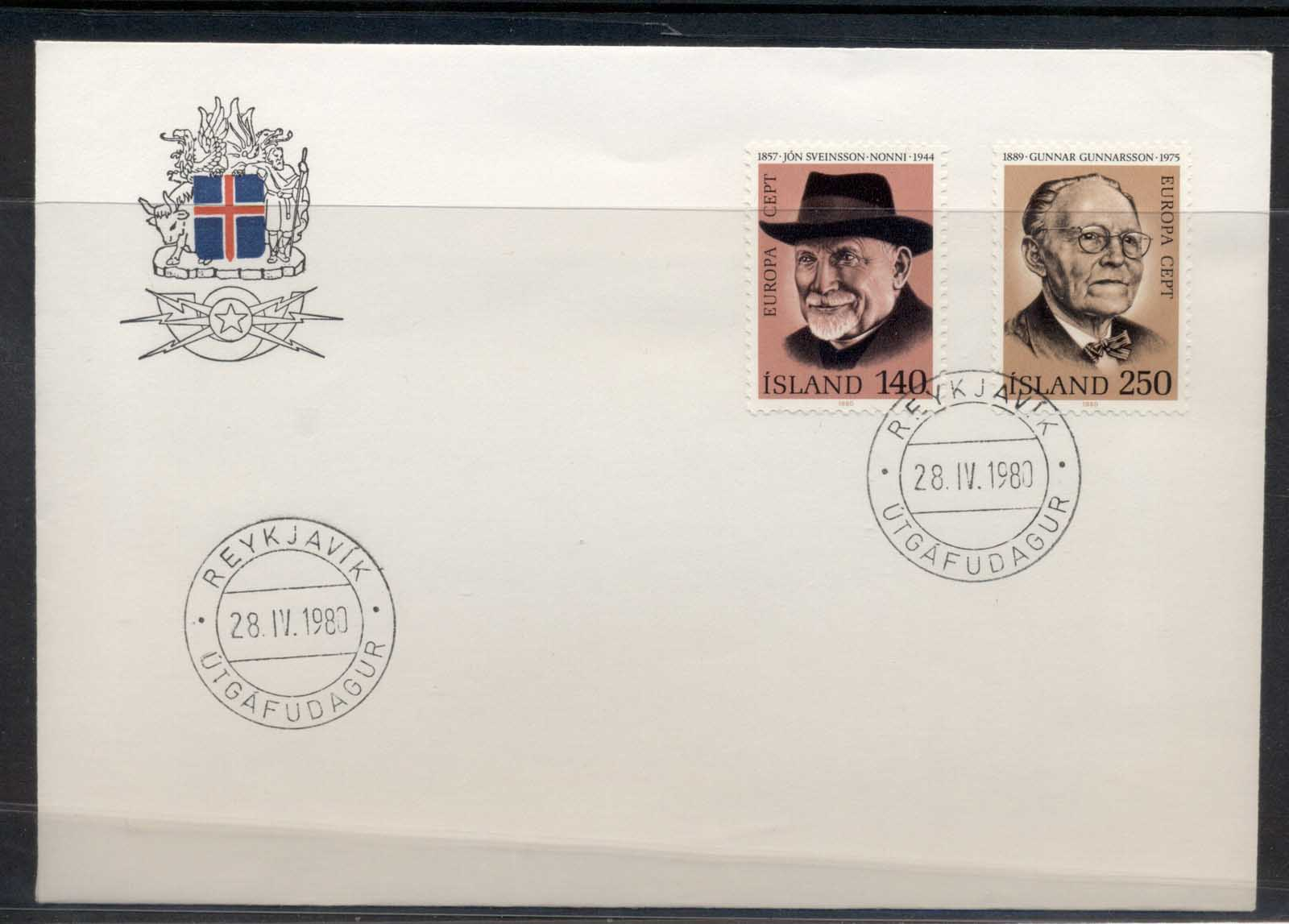 Iceland 1980 Europa Celebrities FDC