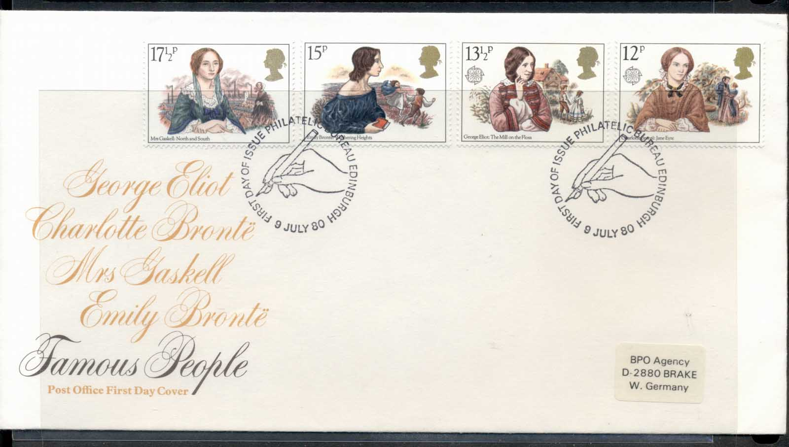 GB 1980 Europa Celebrities FDC