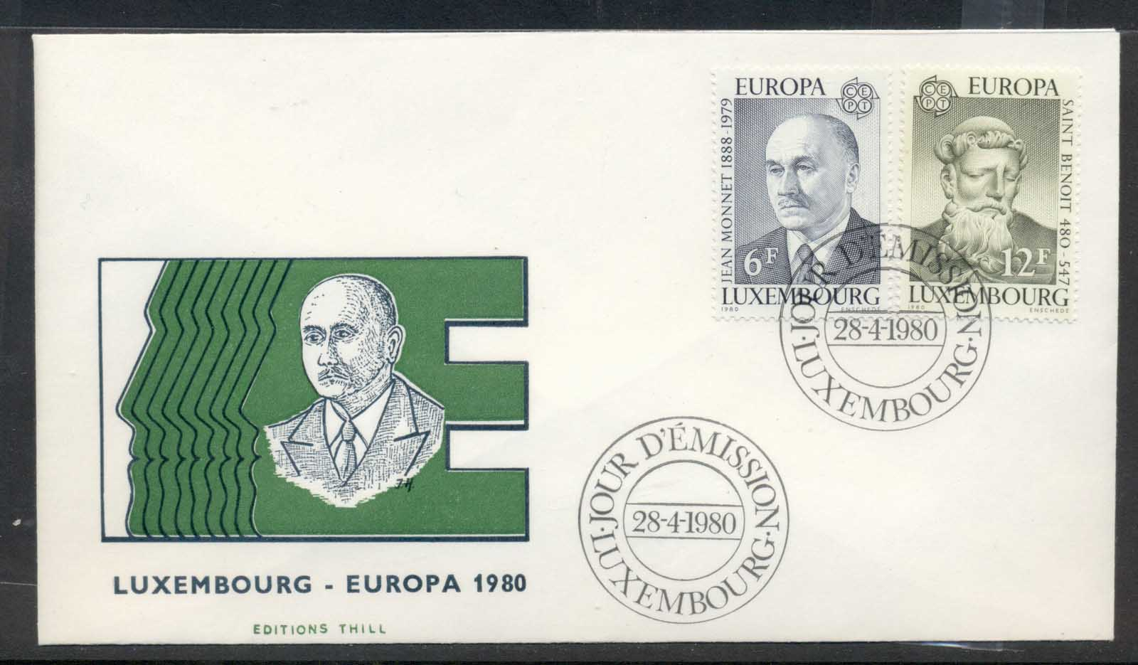 Luxembourg 1980 Europa Celebrities FDC