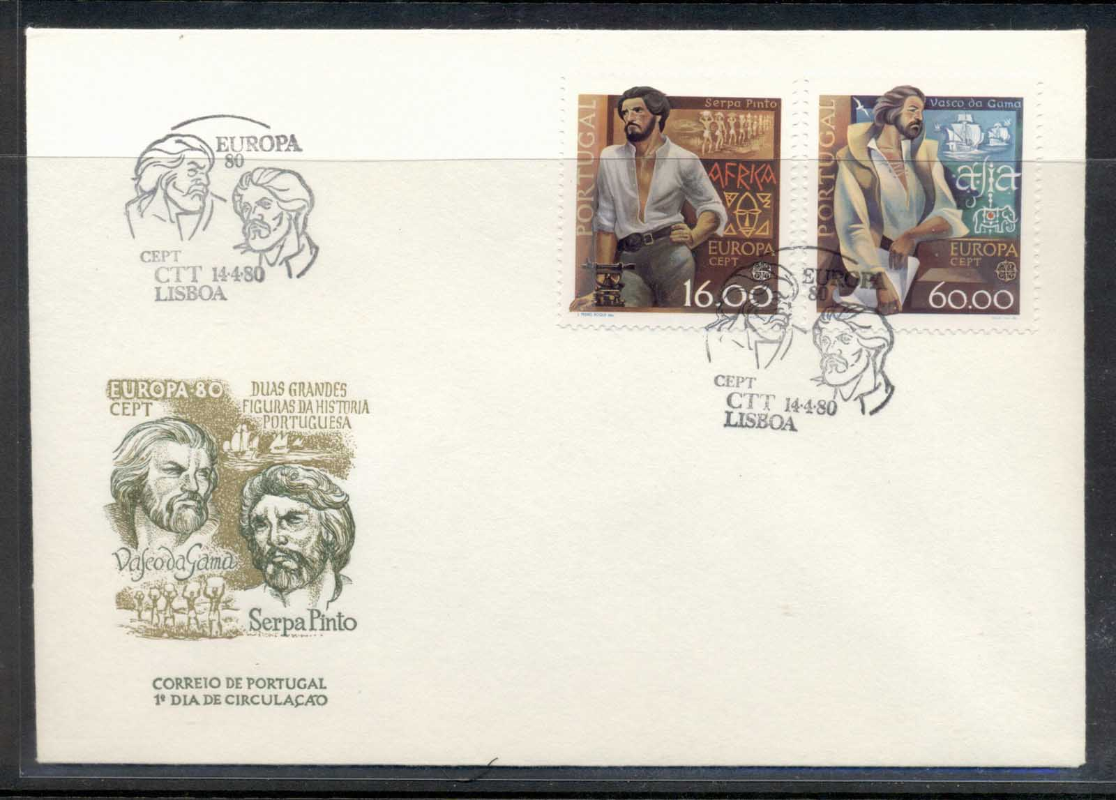 Portugal 1980 Europa Celebrities FDC
