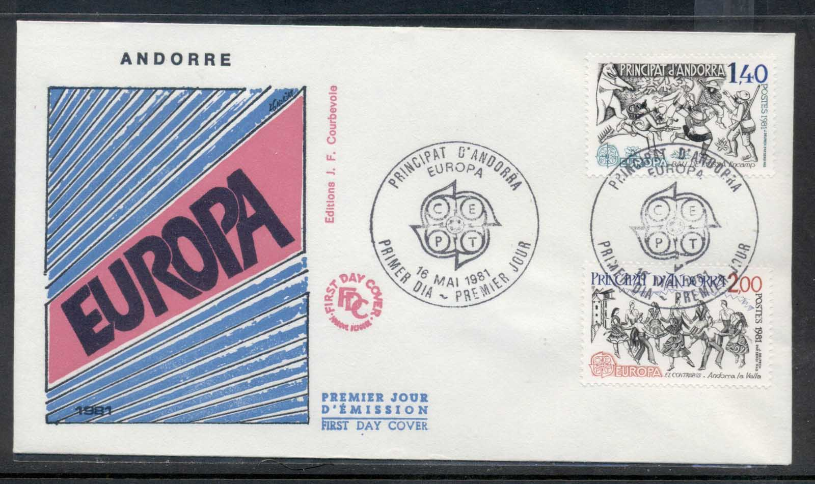 Andorra (Fr.) 1981 Europa Folklore FDC