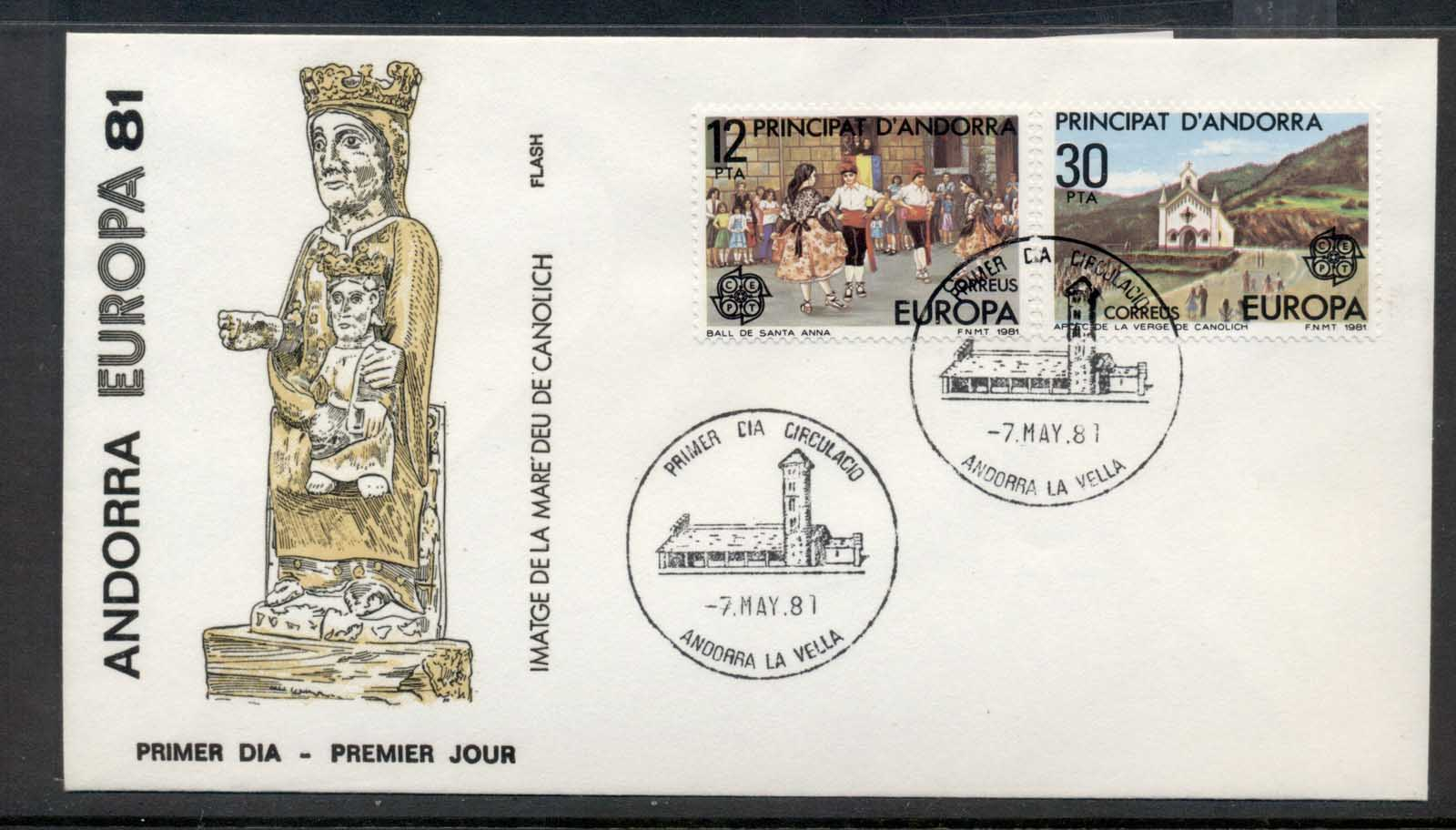 Andorra (Sp.) 1981 Europa Folklore FDC
