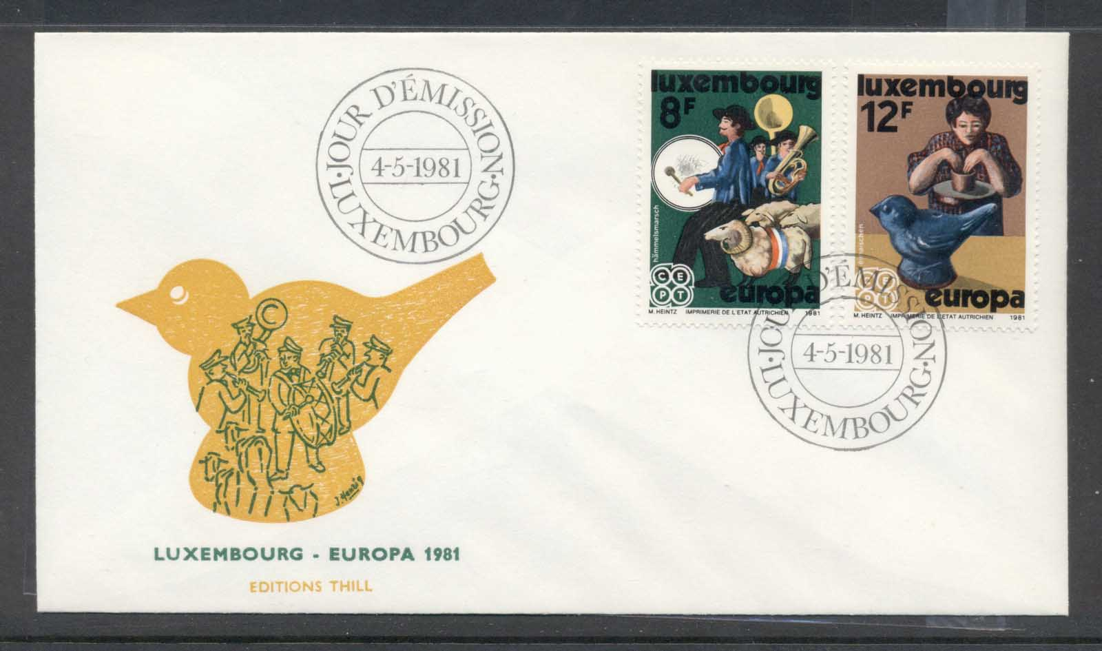 Luxembourg 1981 Europa Folklore FDC